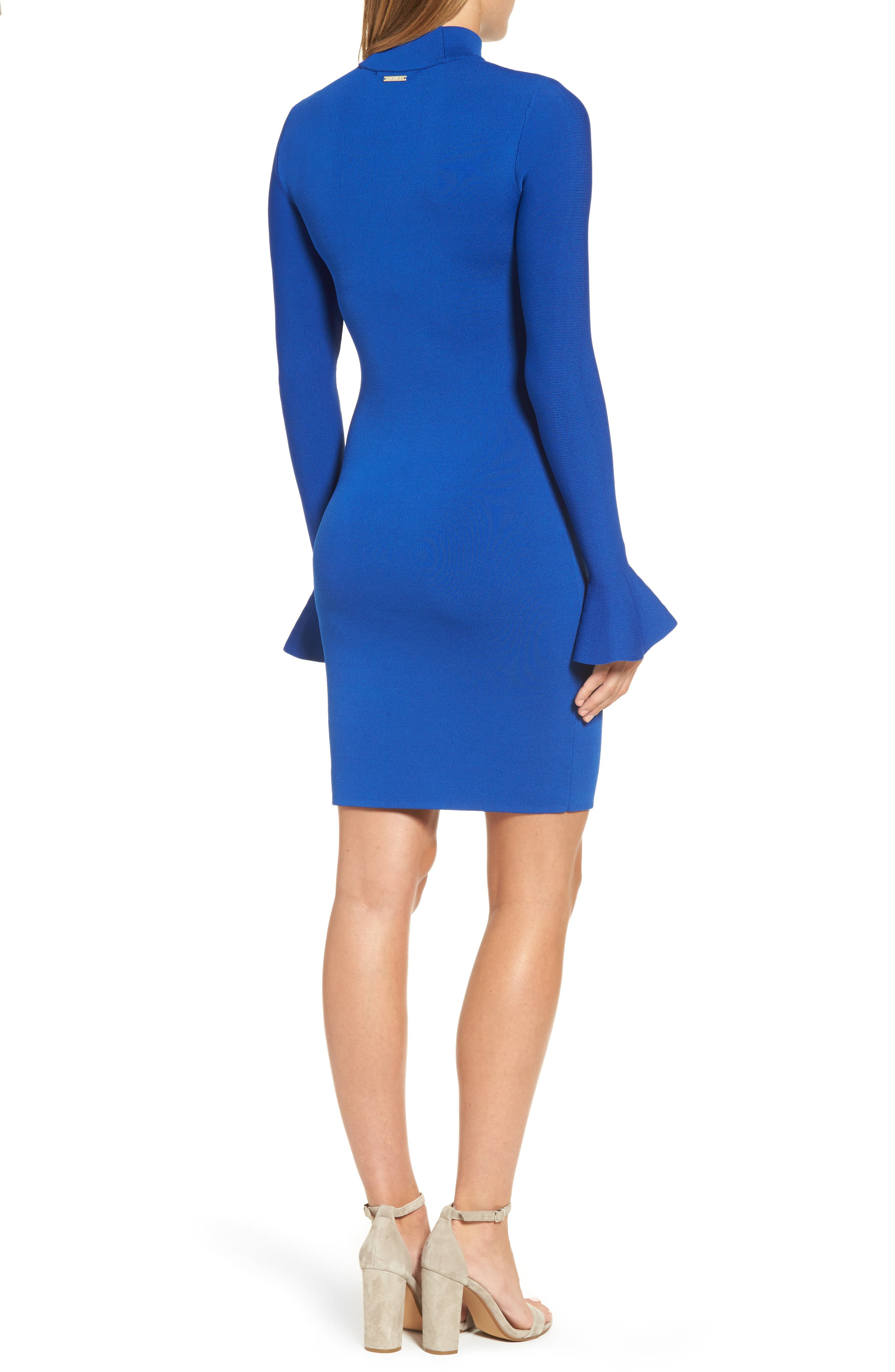 Bell Sleeve Body-Con Dress,                             Alternate thumbnail 2, color,                             403