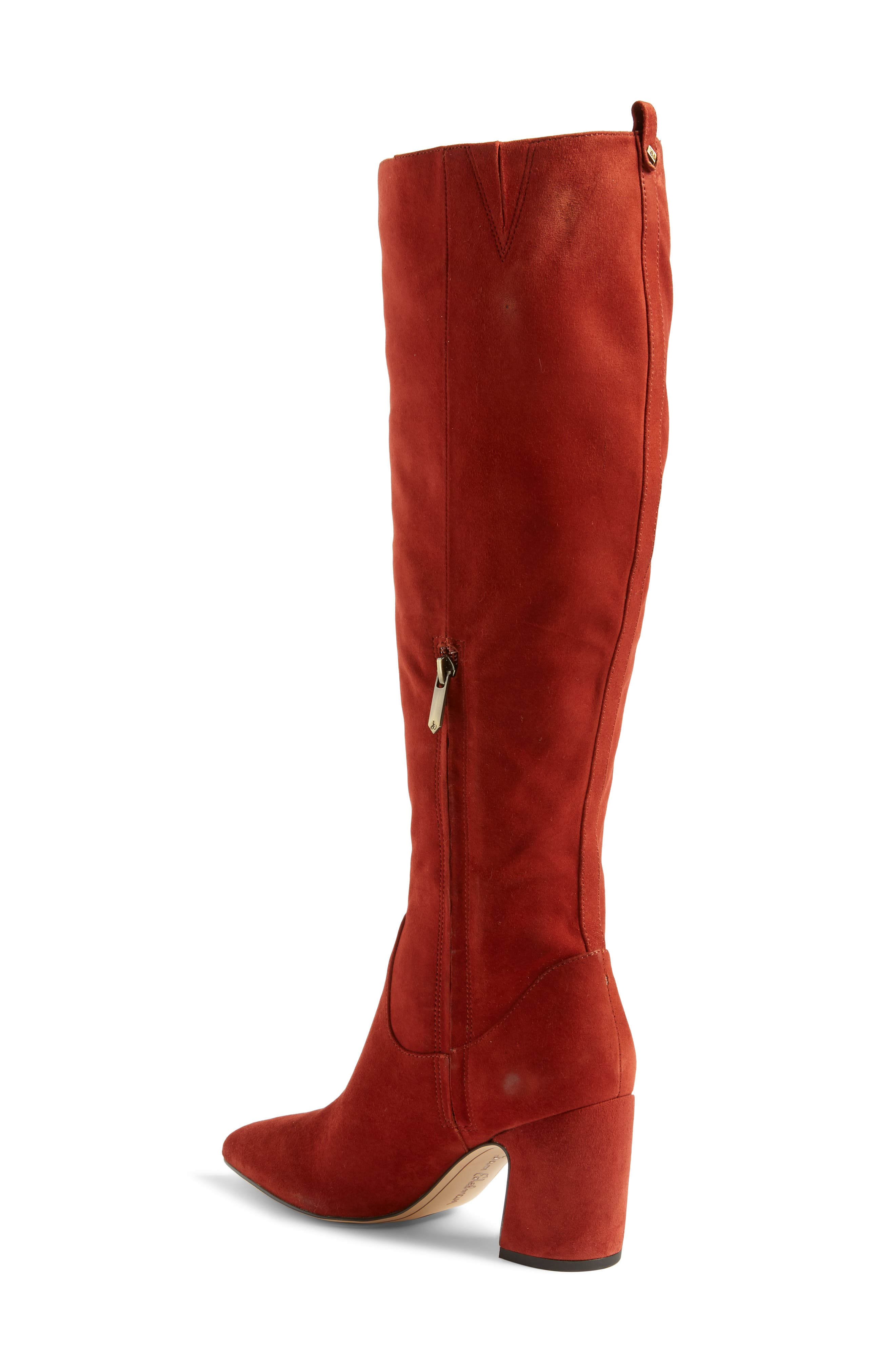 Hai Knee High Boot,                             Alternate thumbnail 2, color,                             PAPRIKA SUEDE