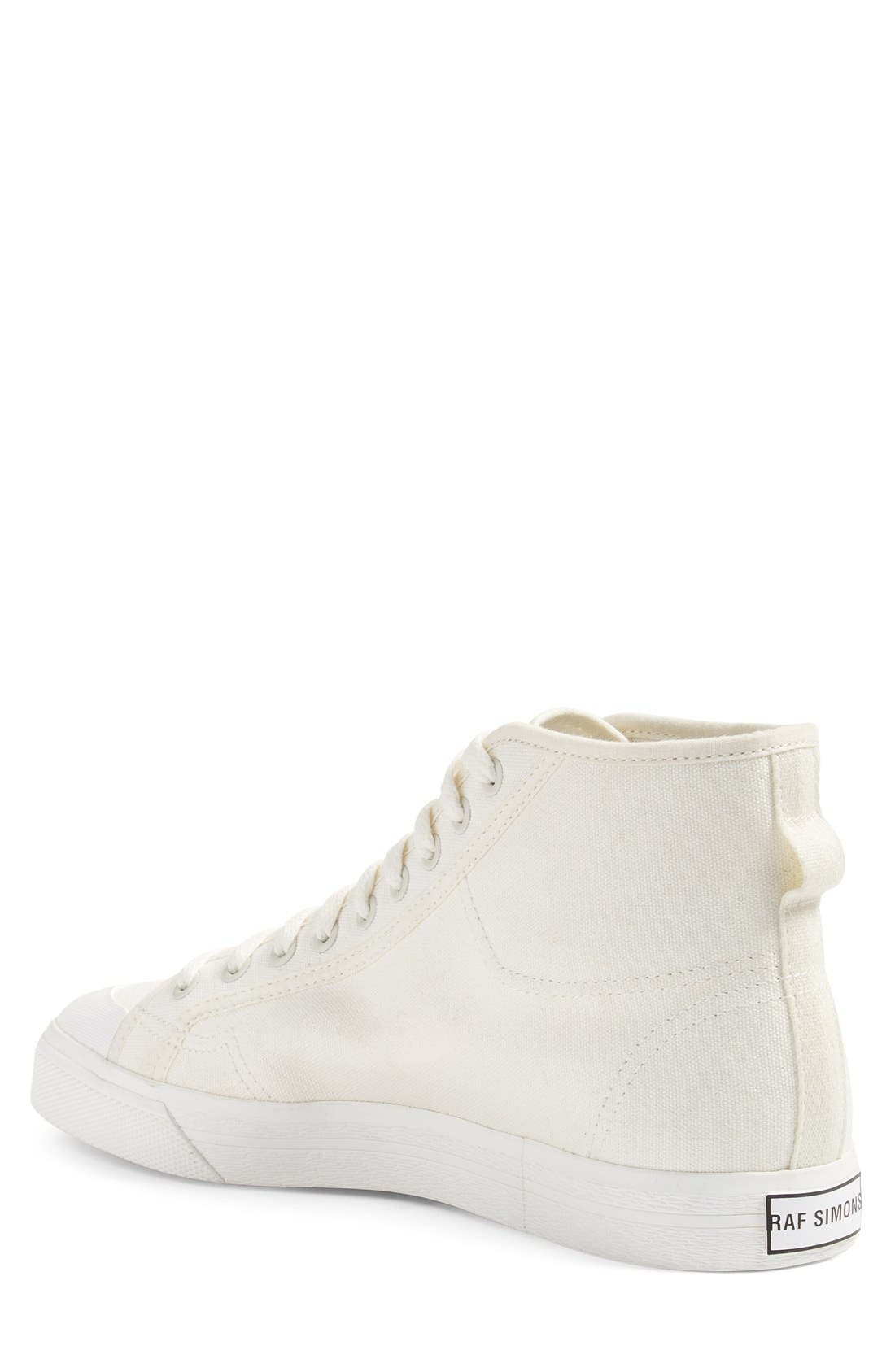 RAF SIMONS,                             adidas by Raf Simons Spirit High Top Sneaker,                             Alternate thumbnail 4, color,                             100