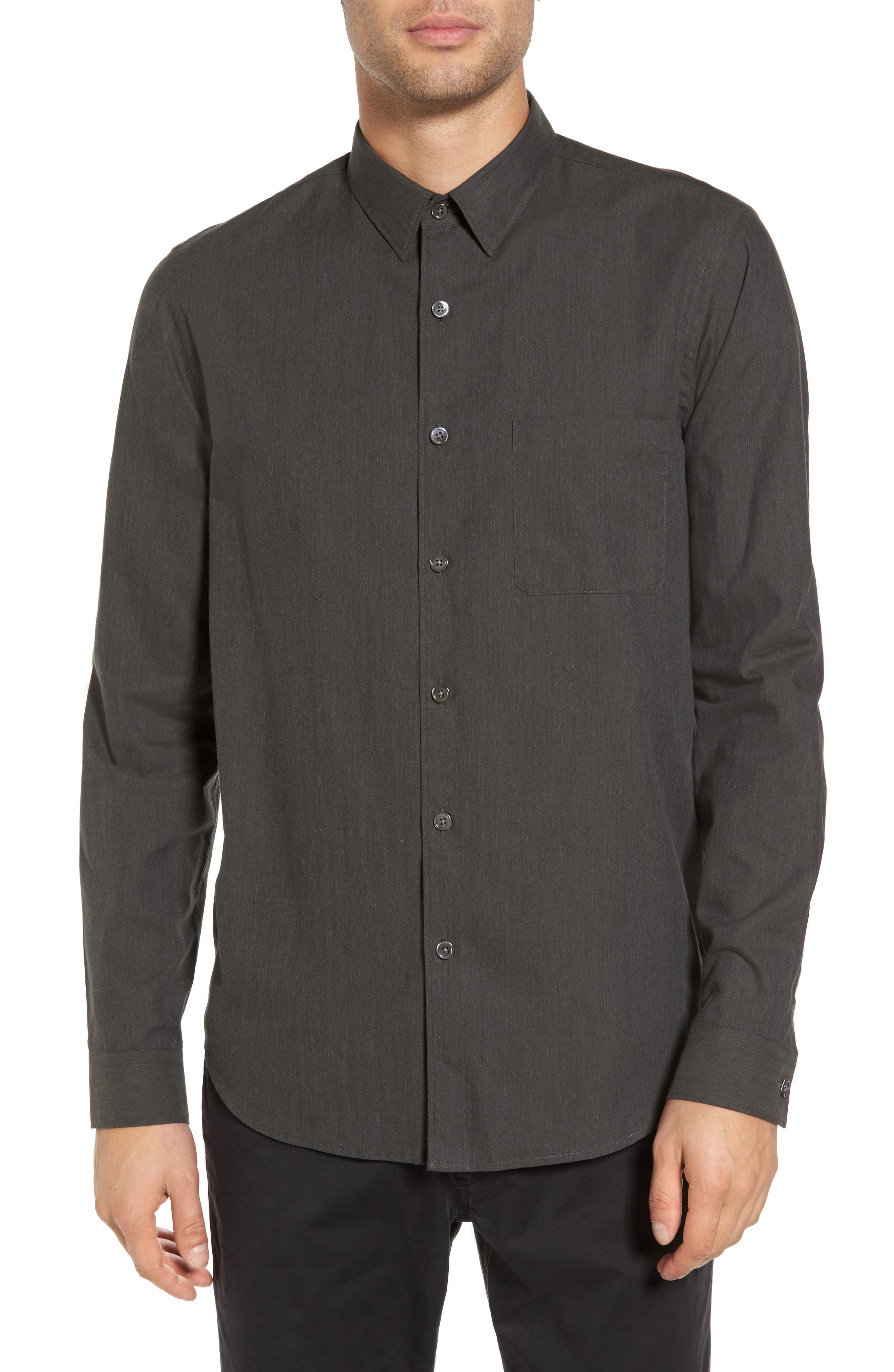 Rammy Trim Fit Solid Sport Shirt,                             Main thumbnail 1, color,                             381