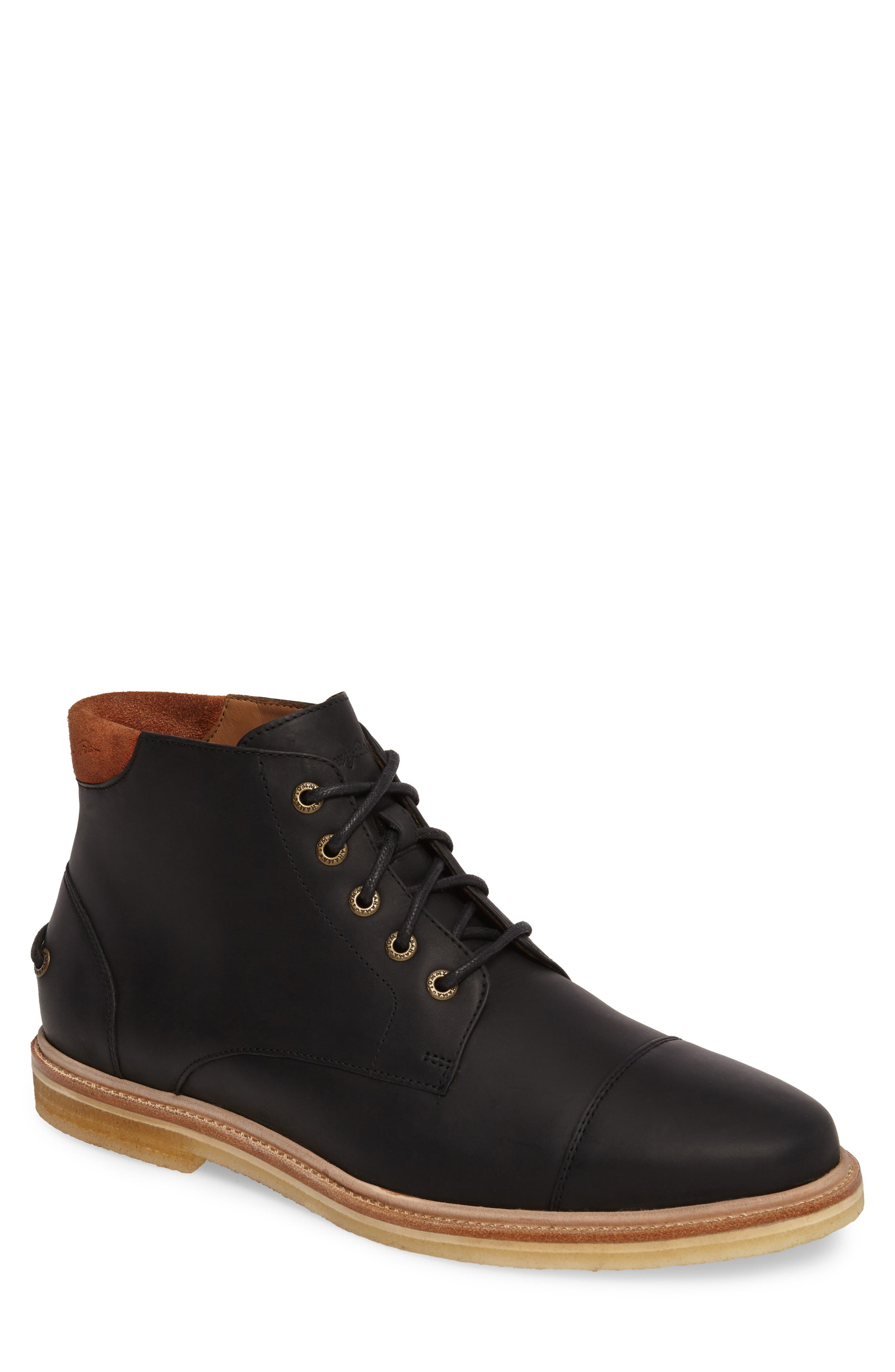 Argon Blooms Cap Toe Boot,                         Main,                         color, 001