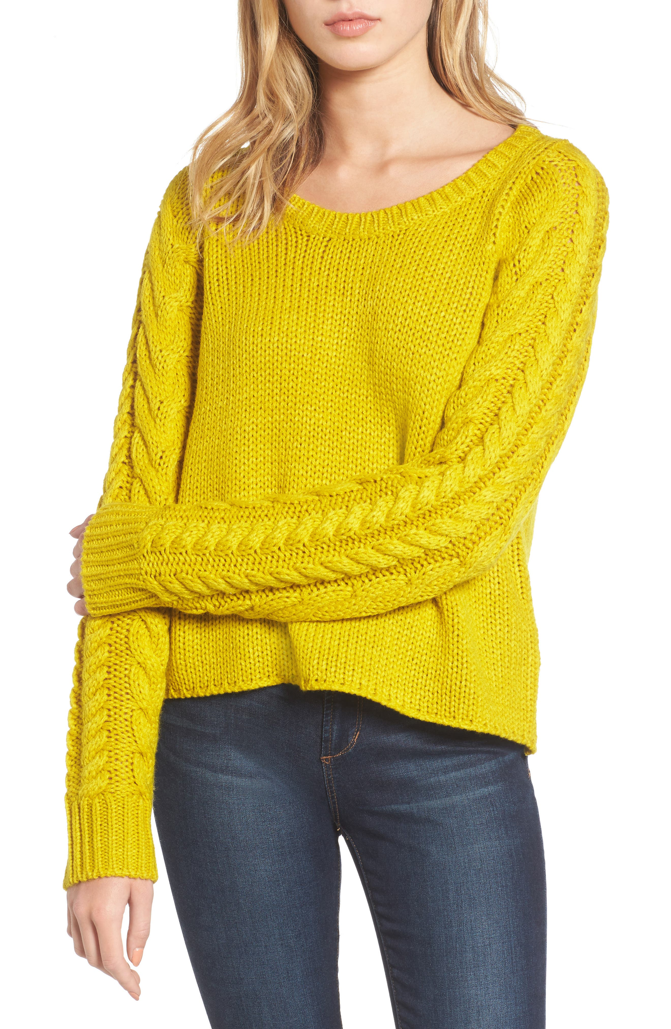 Cable Sleeve Pullover,                             Main thumbnail 2, color,