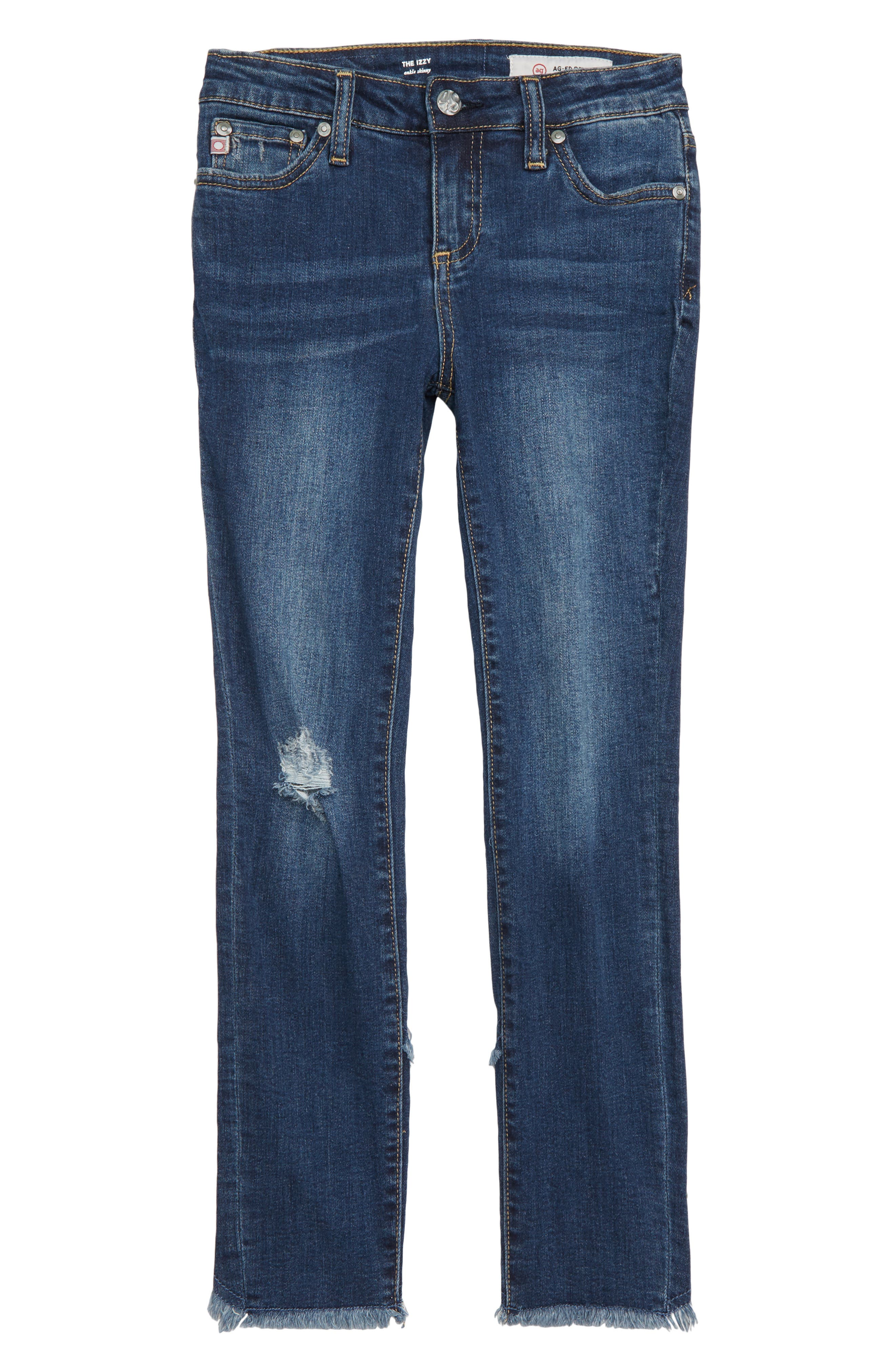 The Izzy Studded Skinny Ankle Jeans,                             Main thumbnail 1, color,                             VINTAGE SKY