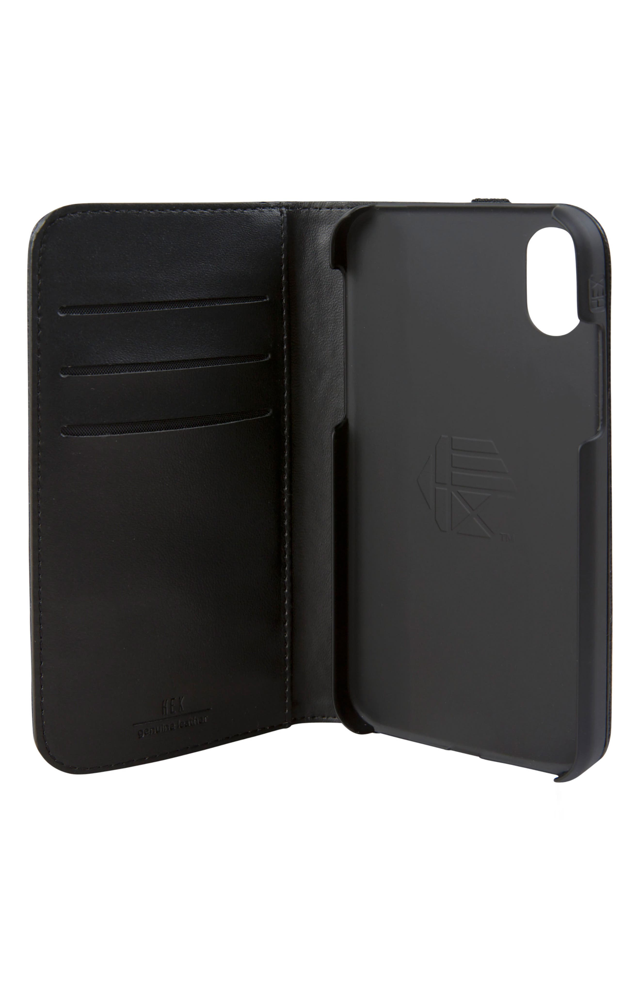 Icon iPhone X Wallet Case,                             Alternate thumbnail 2, color,                             001