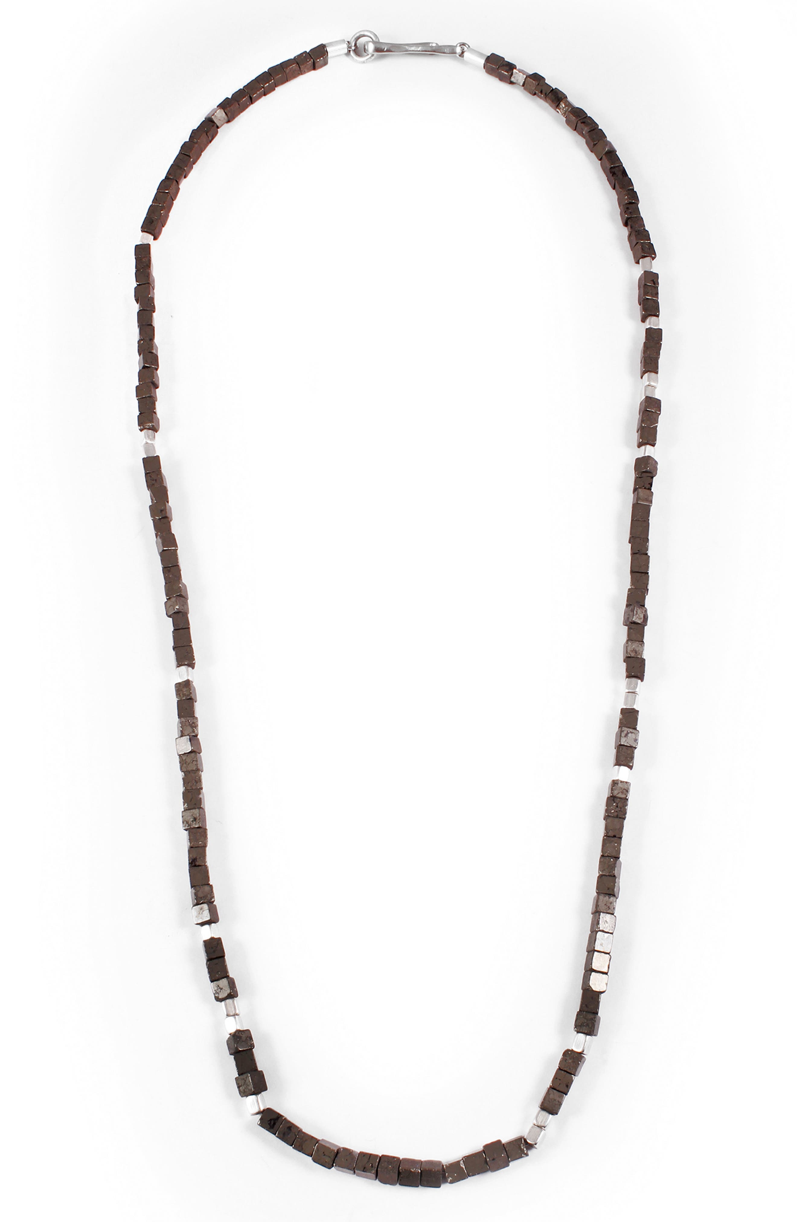 Eternal Morse Beaded Necklace,                         Main,                         color, 020