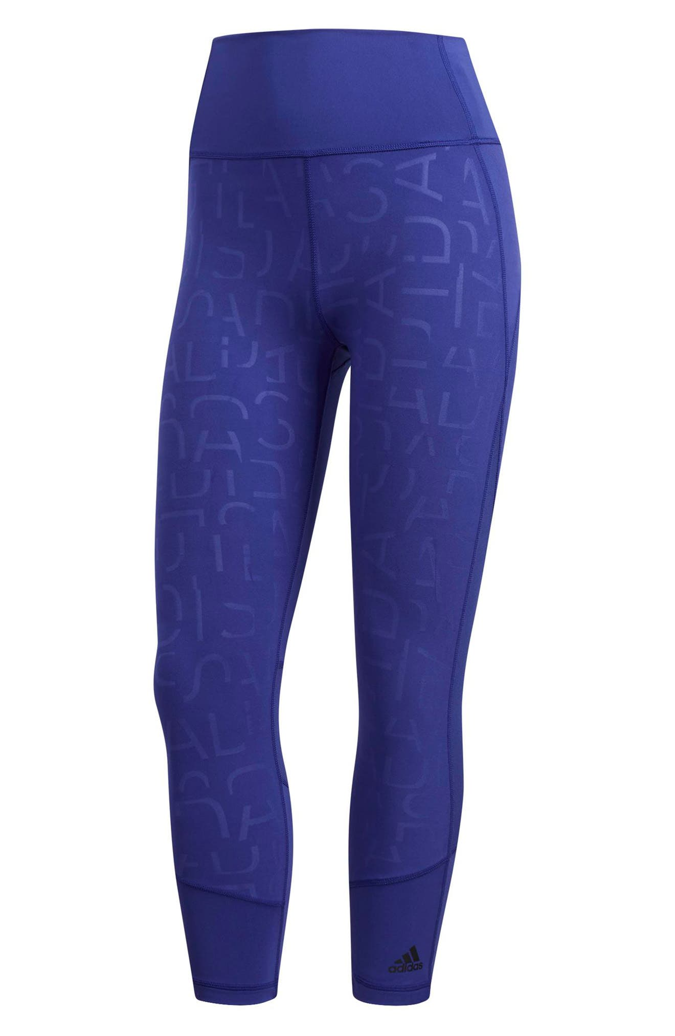 Adihack Crop Tights,                             Alternate thumbnail 6, color,                             500