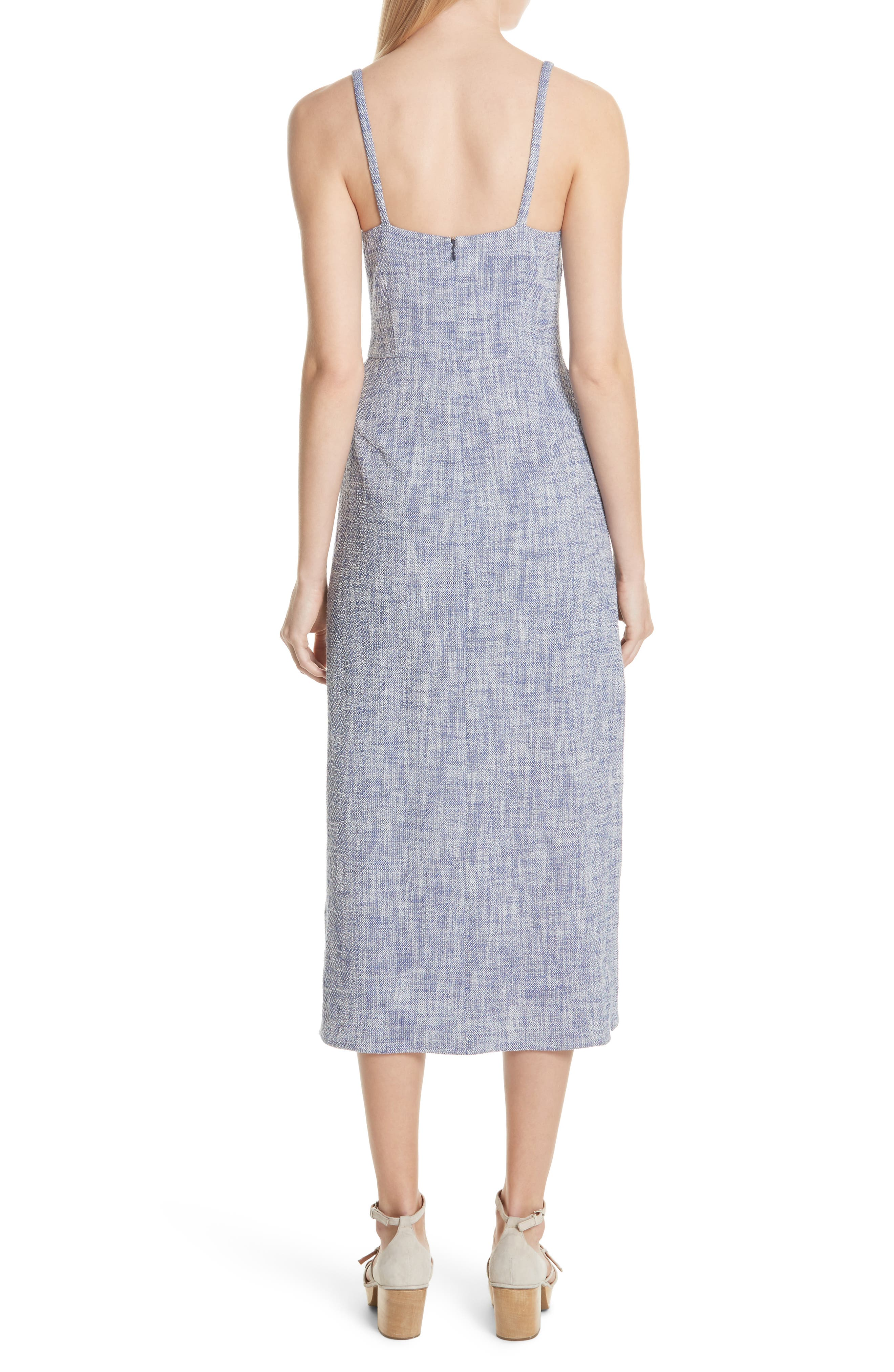 Agitator Midi Dress,                             Alternate thumbnail 2, color,                             BLUE