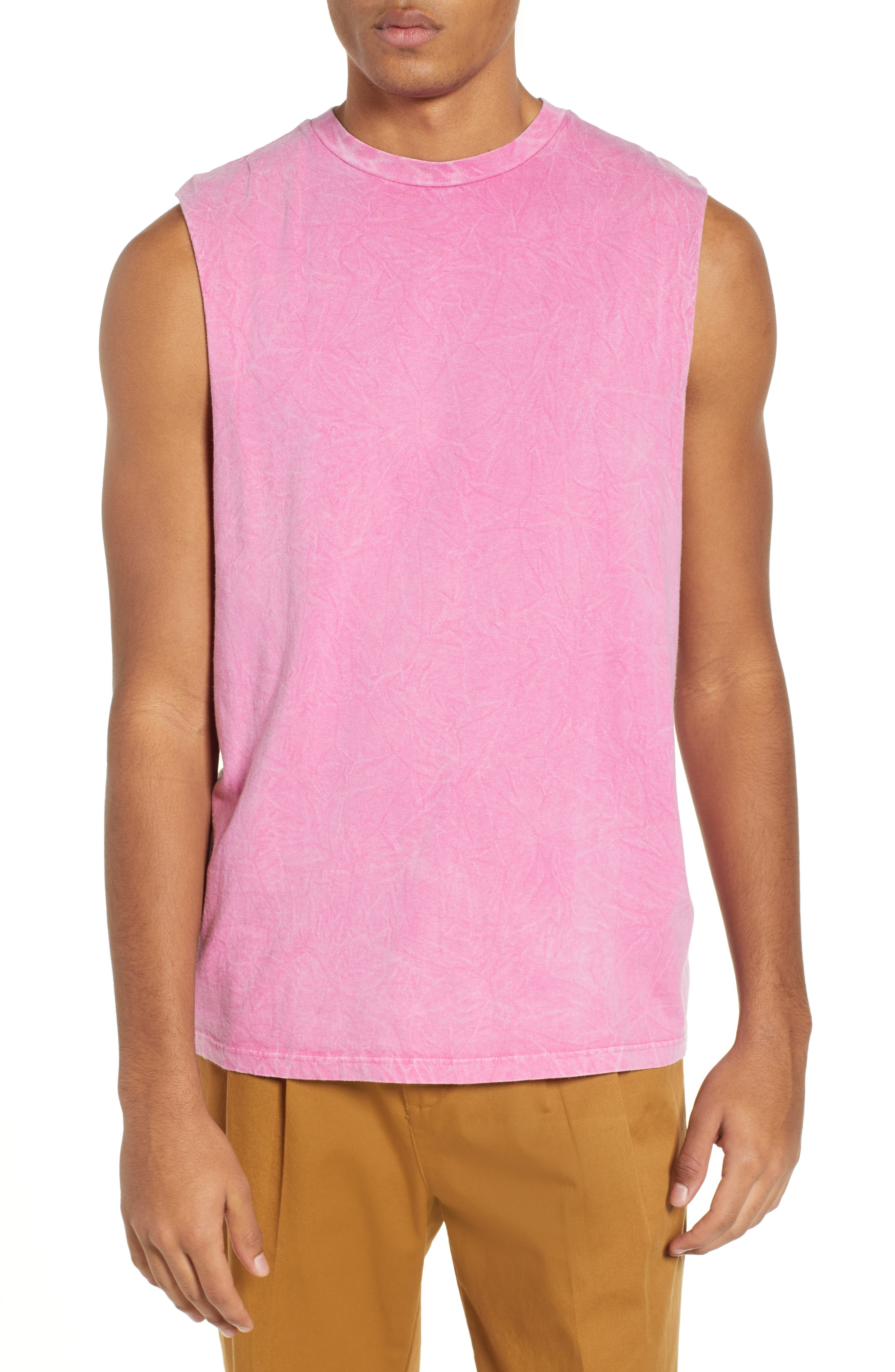 Crinkle Tank,                         Main,                         color, PINK