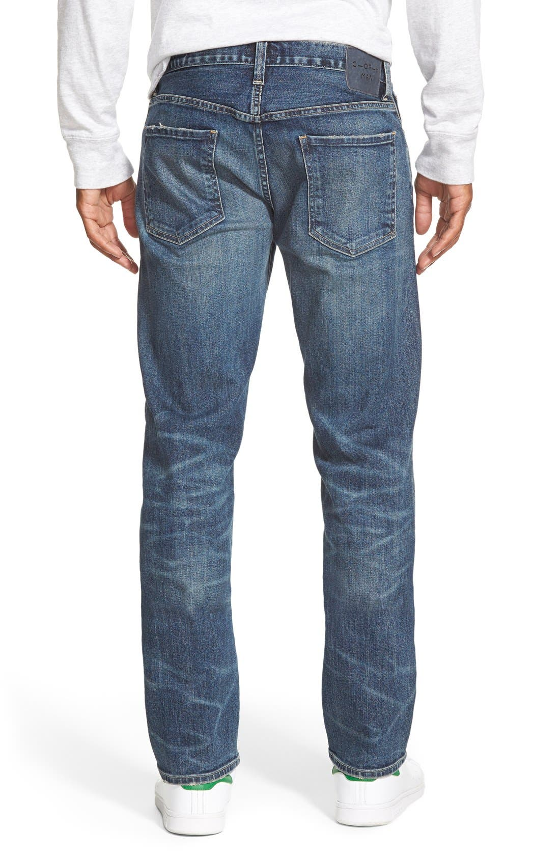 'Core' Slim Straight Leg Jeans,                             Alternate thumbnail 3, color,