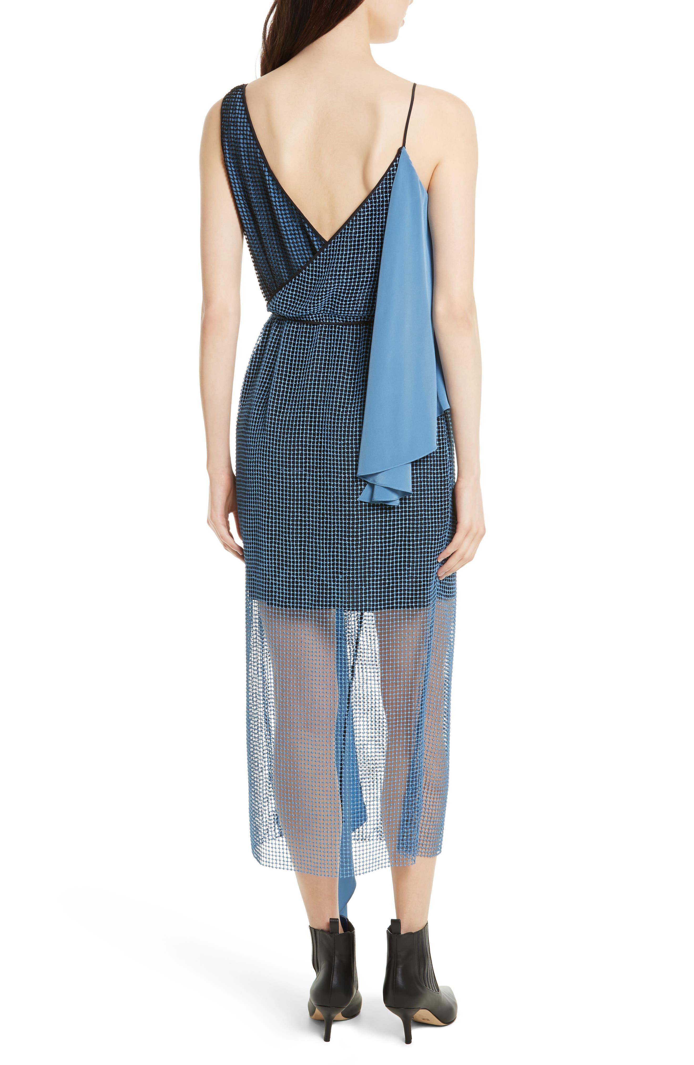 Asymmetrical Sash Dress,                             Alternate thumbnail 2, color,                             424