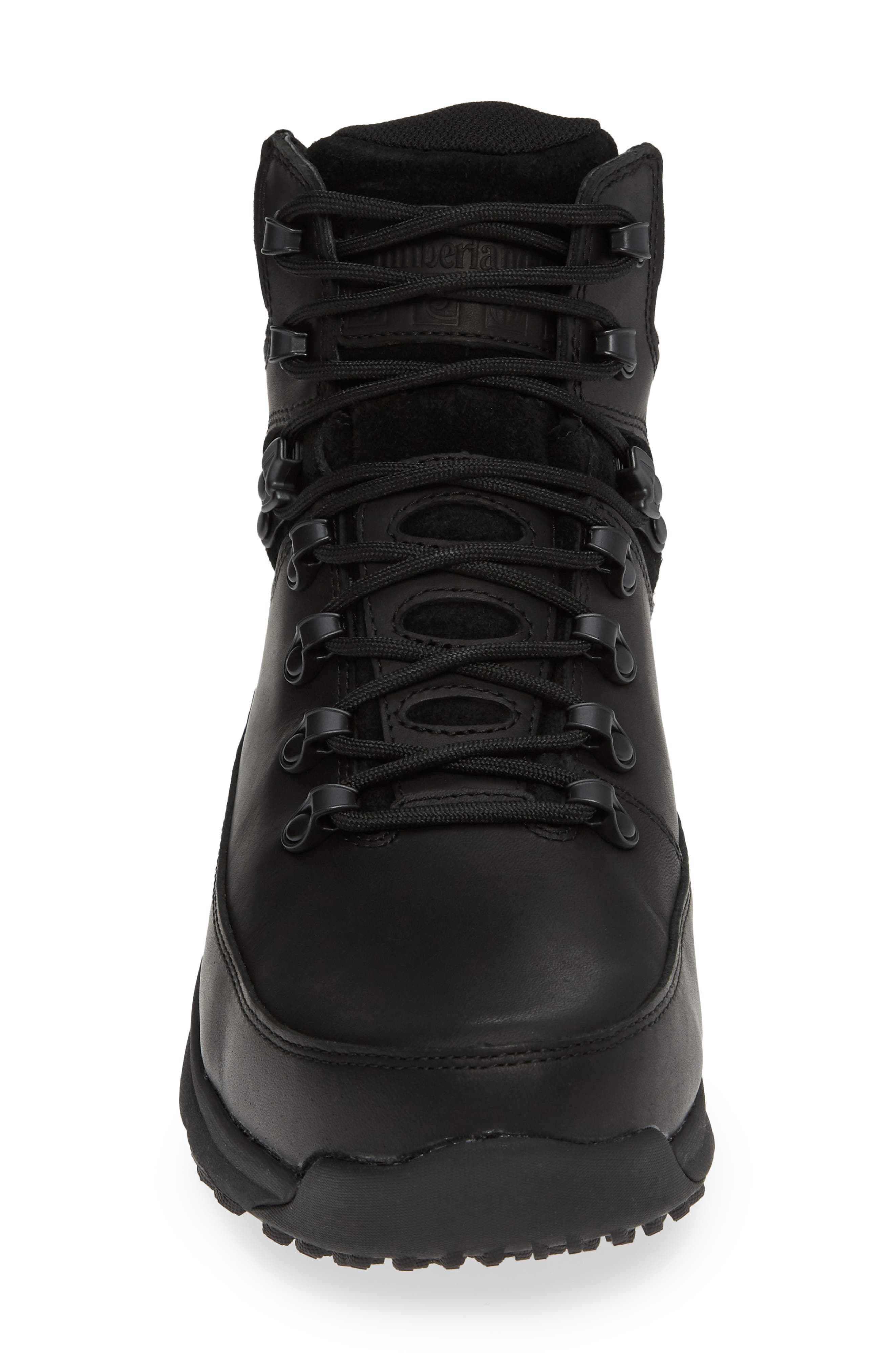World Hiker Waterproof Boot,                             Alternate thumbnail 4, color,                             BLACK LEATHER