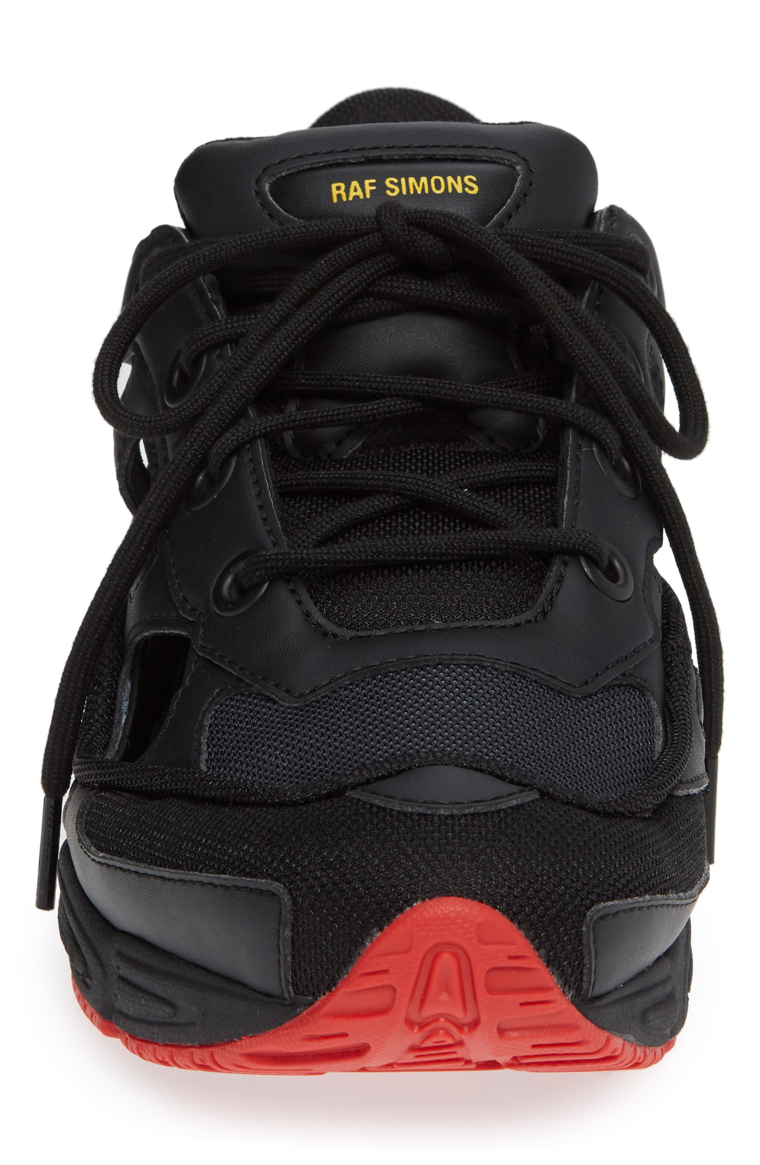 adidas by Raf Simons Replicant Ozweego Sneaker,                             Alternate thumbnail 4, color,                             001