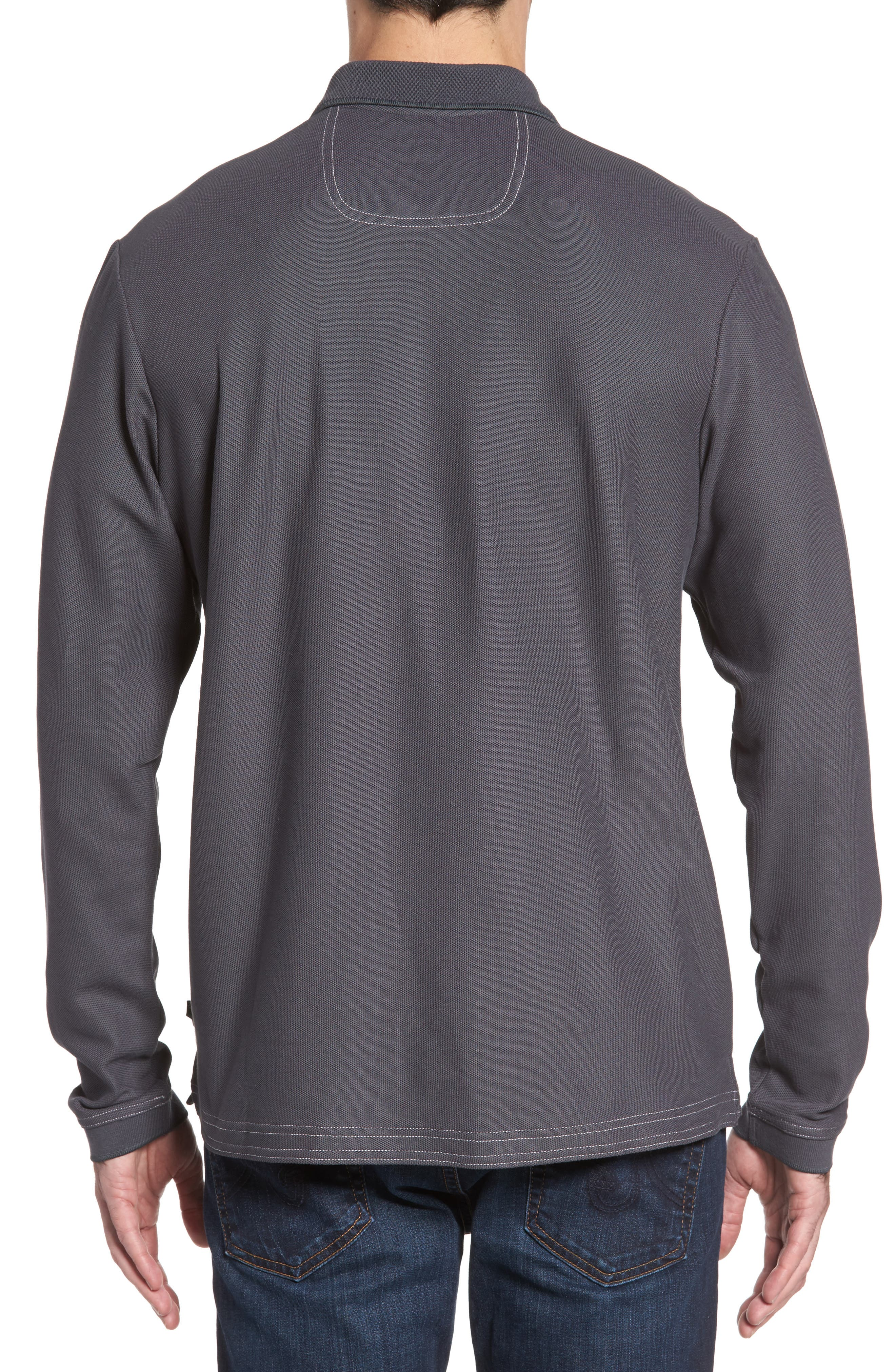 Emfielder Long Sleeve Polo,                             Alternate thumbnail 15, color,