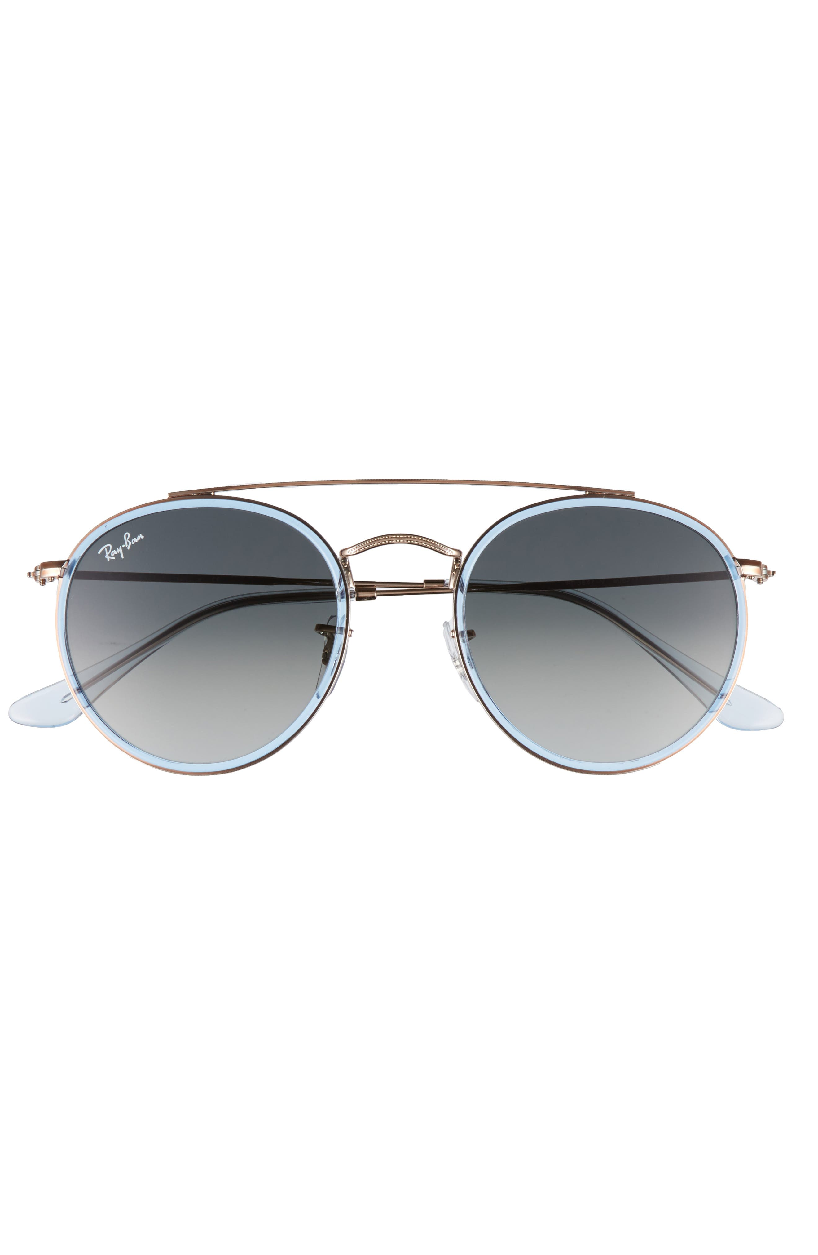 51mm Aviator Gradient Lens Sunglasses,                             Alternate thumbnail 10, color,