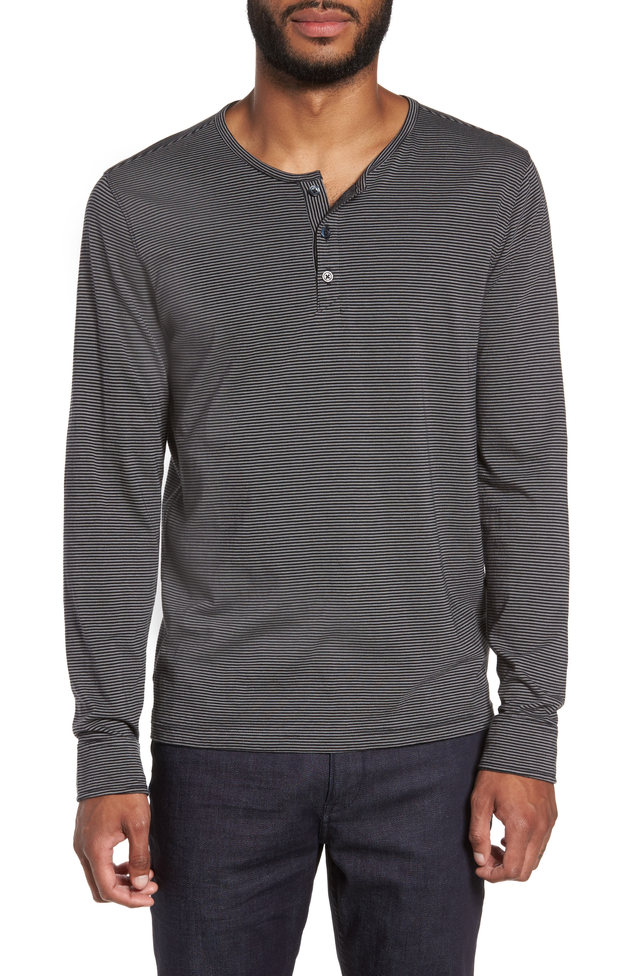 Graham Stripe Henley,                             Main thumbnail 1, color,                             001