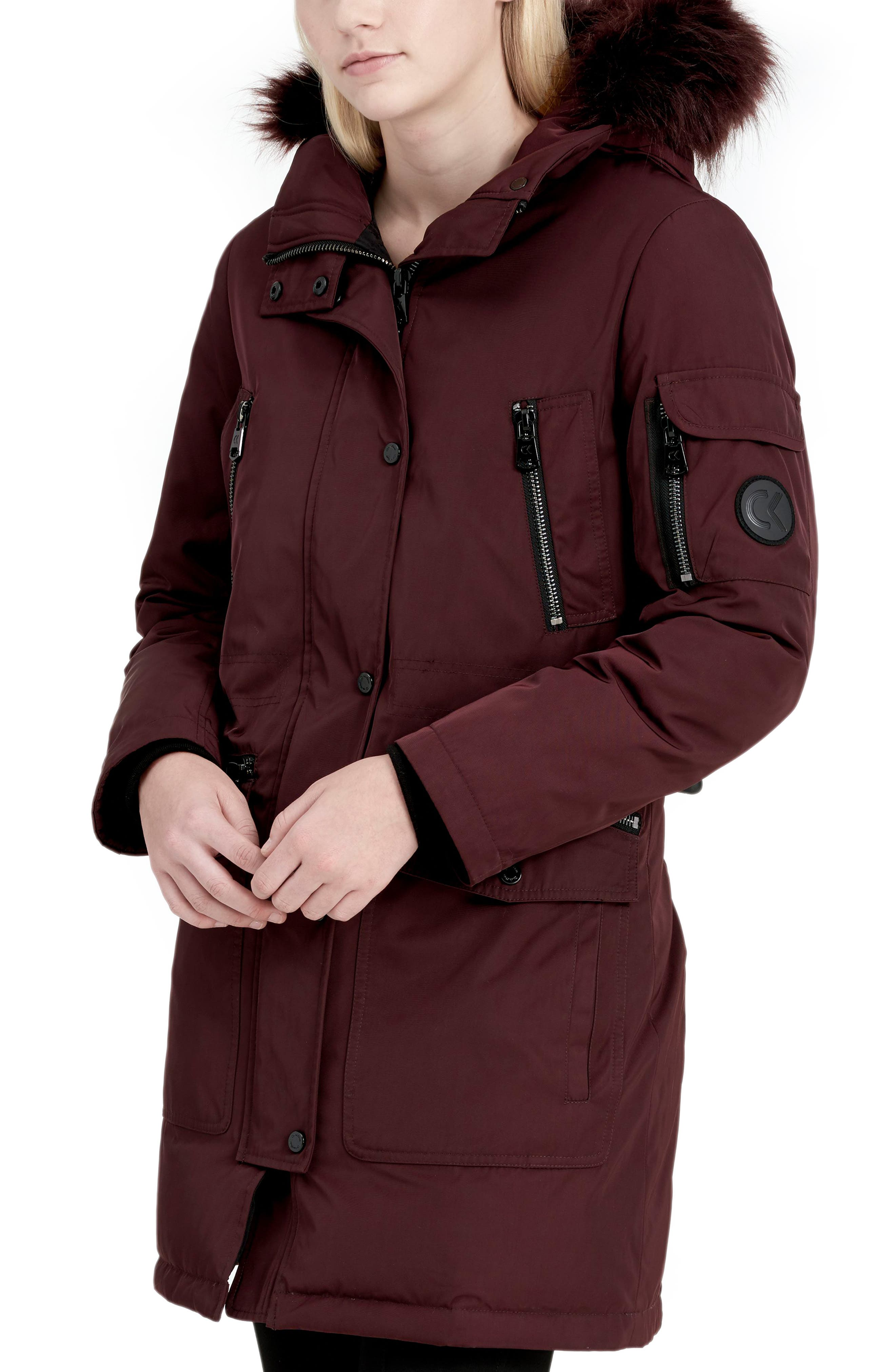 Expedition Hooded Down Parka with Faux Fur Trim,                             Alternate thumbnail 9, color,