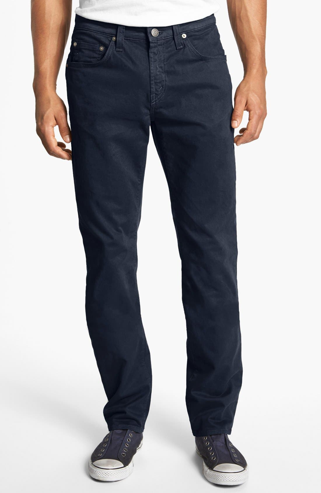 'Kane' Slim Fit Cotton Twill Pants,                             Main thumbnail 15, color,