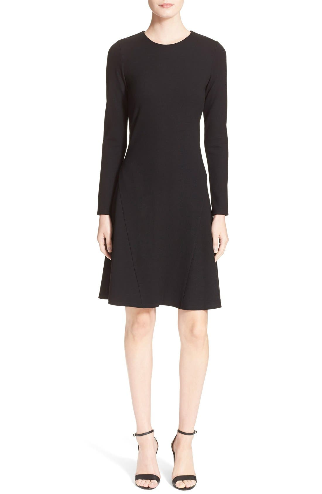 'Mloyd' Stretch Jersey Fit & Flare Dress,                             Main thumbnail 1, color,                             001