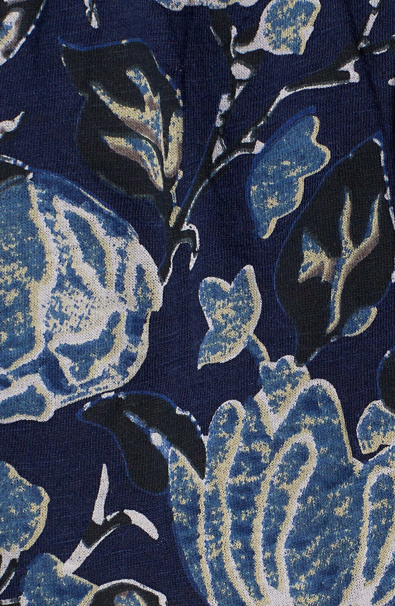 Back Cutout Cotton Blend Top,                             Alternate thumbnail 6, color,                             400