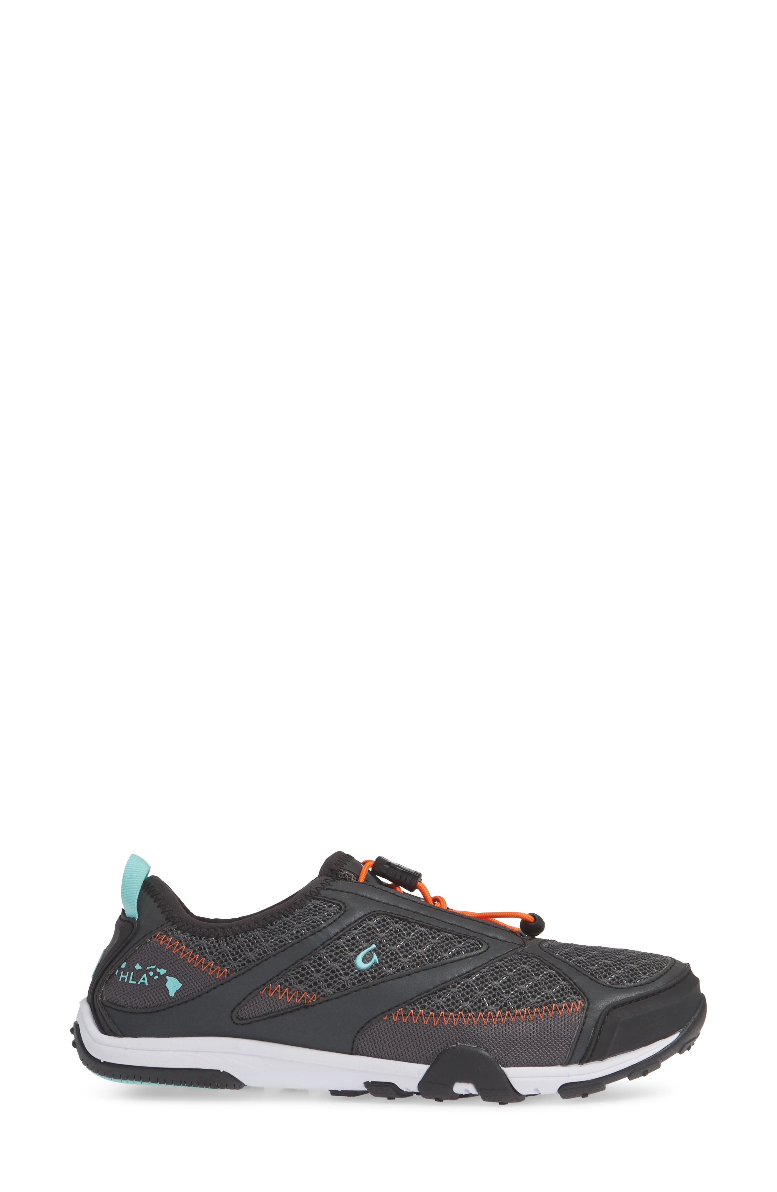 'Eleu' Water-Resistant Sneaker,                             Alternate thumbnail 3, color,                             DARK SHADOW/ LAVA ROCK FABRIC