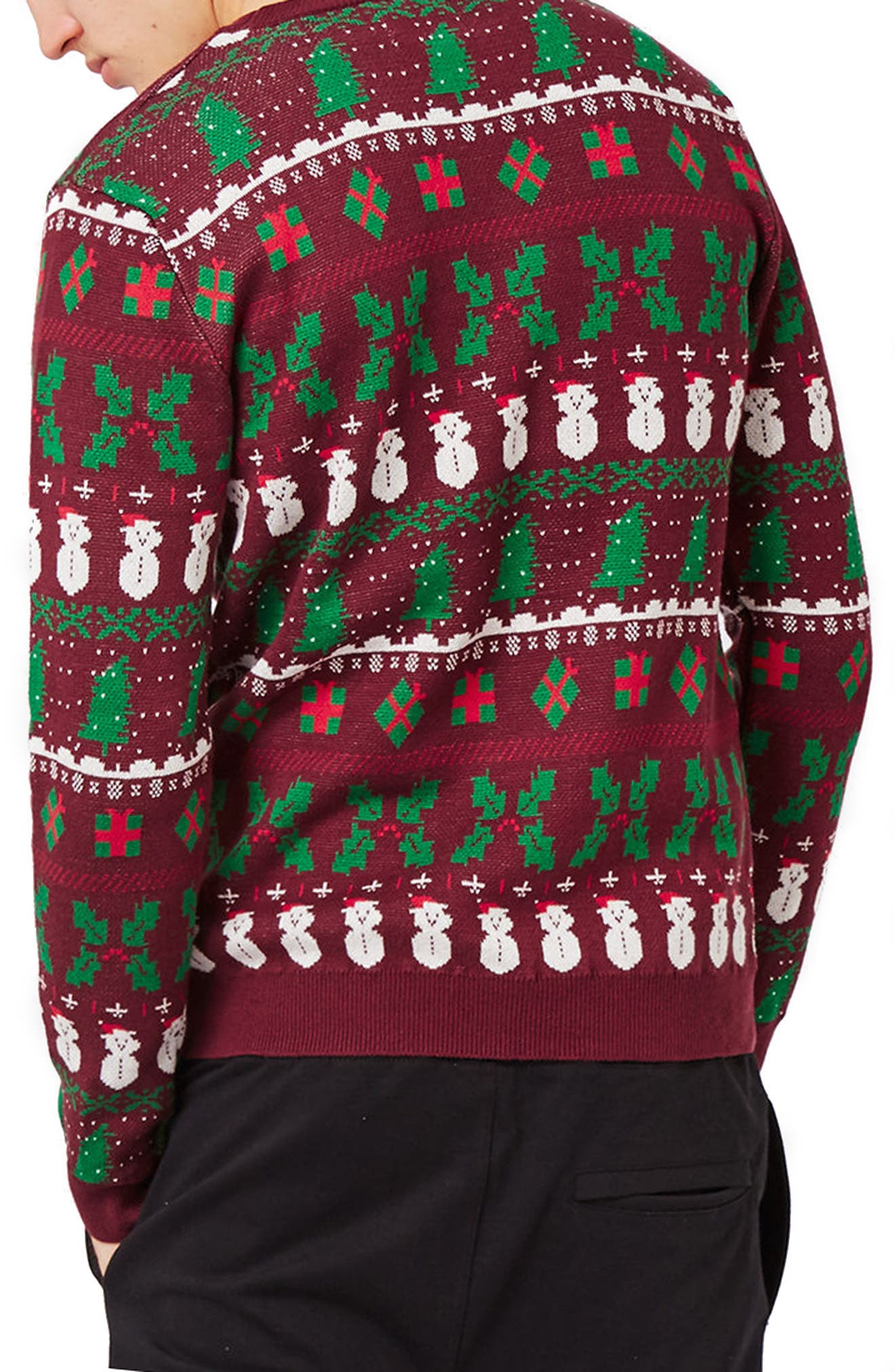 Christmas Jumpers Are Dead Sweater,                             Alternate thumbnail 2, color,                             930