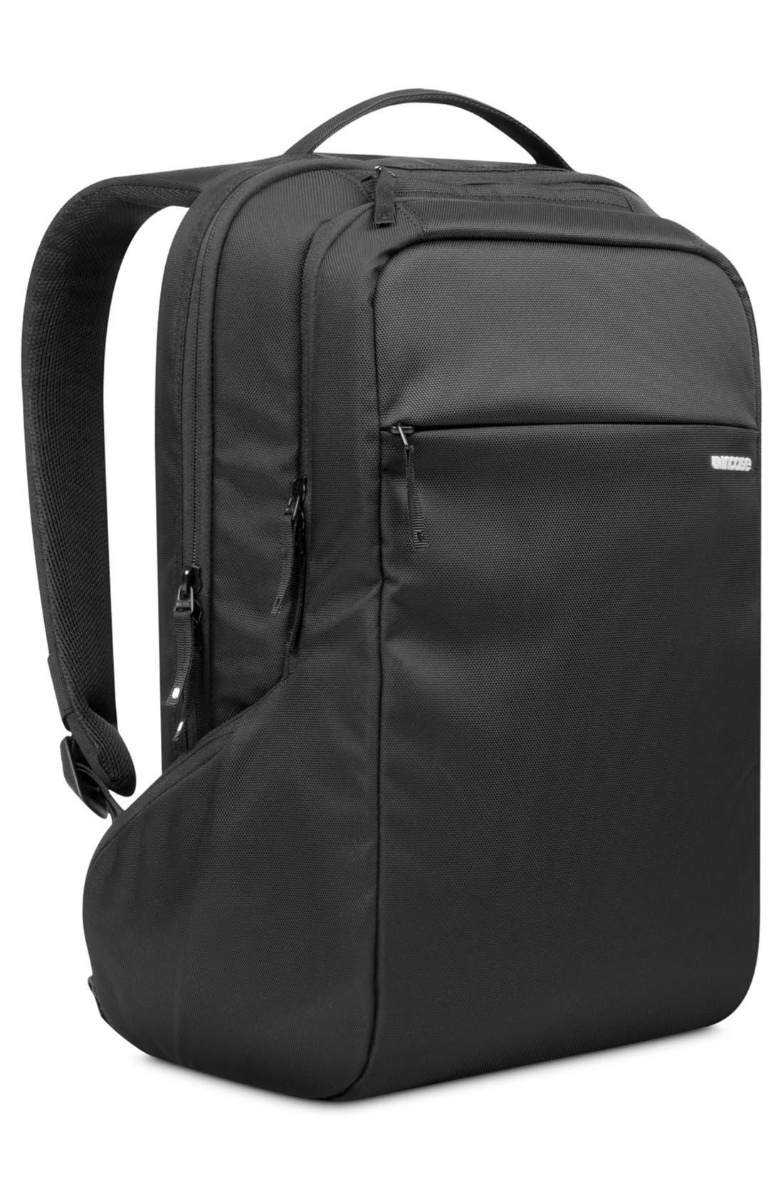 Icon Slim Backpack,                             Alternate thumbnail 4, color,                             BLACK