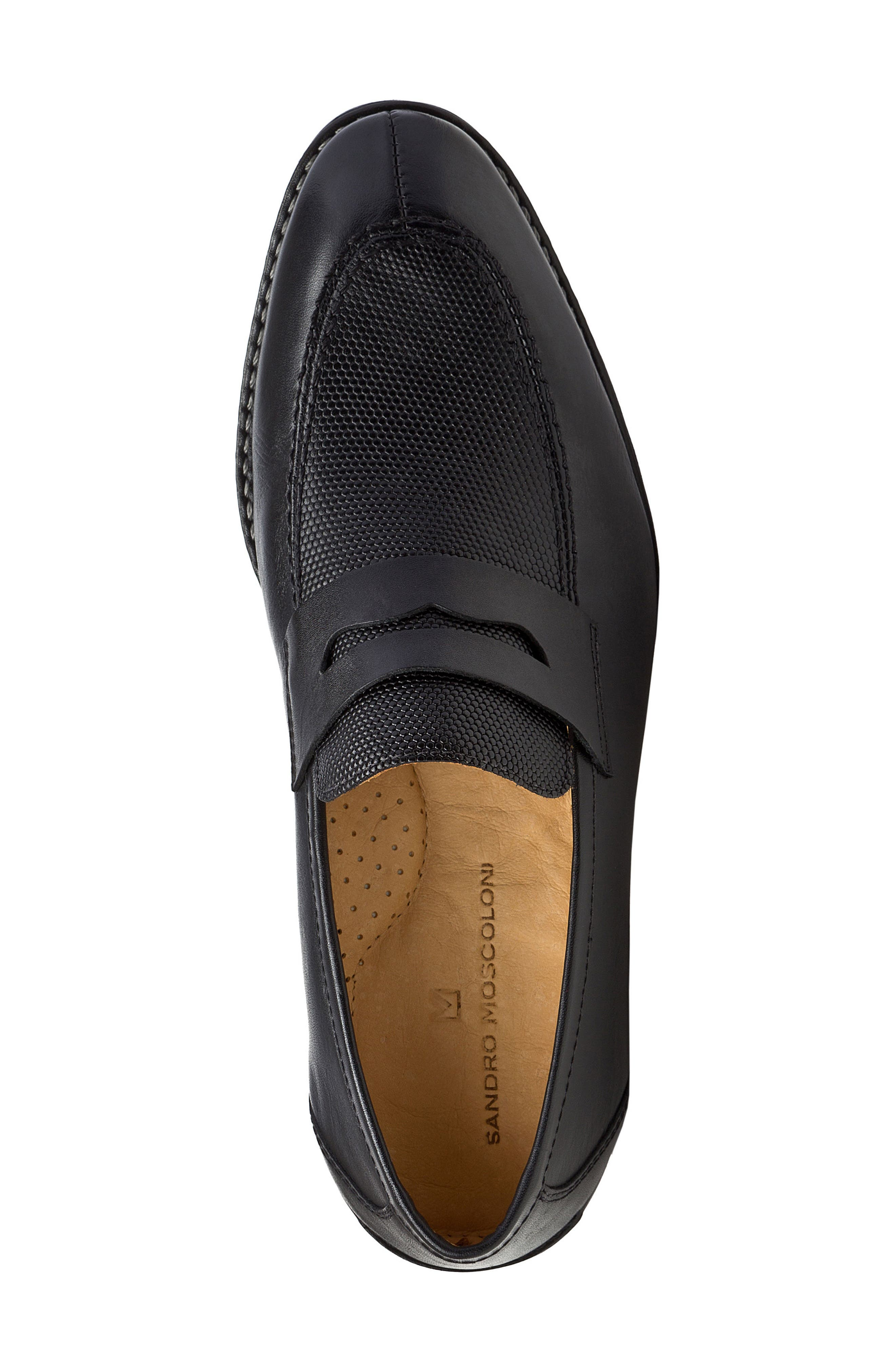 Maestro Penny Loafer,                             Alternate thumbnail 5, color,                             BLACK LEATHER