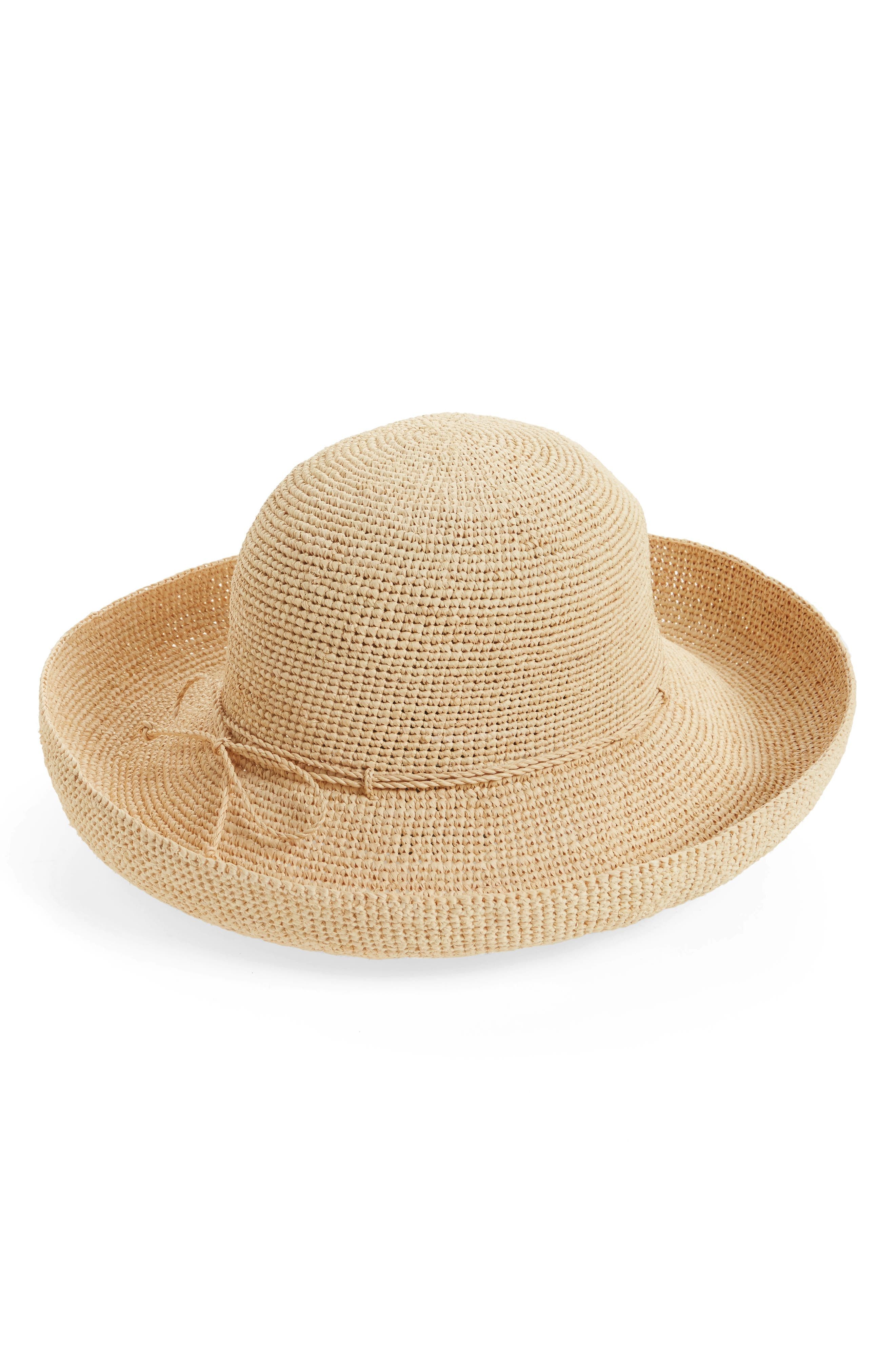 HELEN KAMINSKI,                             'Provence 12' Packable Raffia Hat,                             Alternate thumbnail 2, color,                             NATURAL