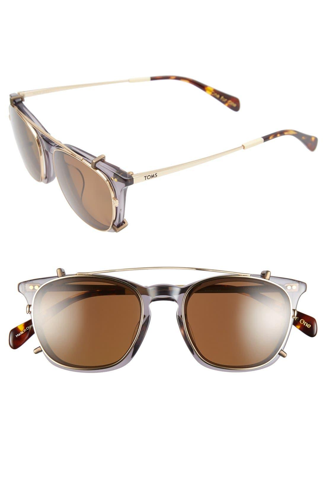 TOMS 'Maxwell' 48mm Sunglasses, Main, color, 020