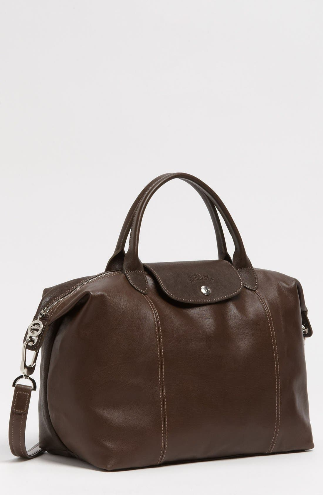 Medium 'Le Pliage Cuir' Leather Top Handle Tote,                             Main thumbnail 11, color,