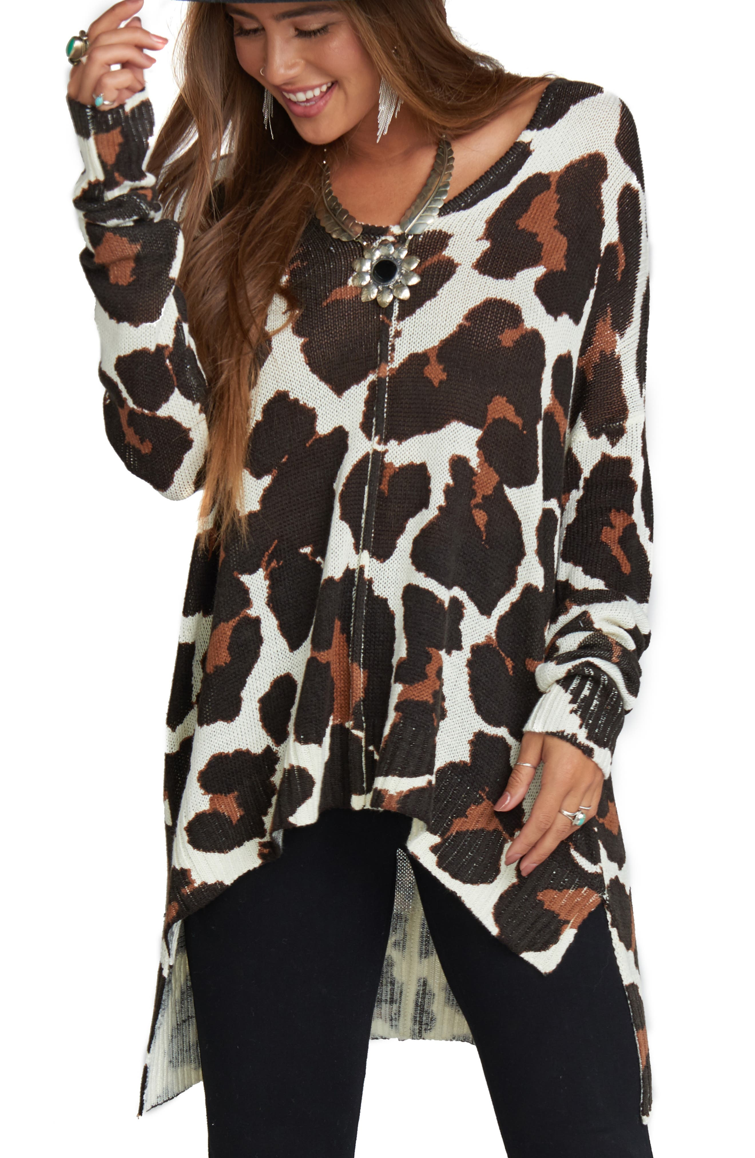 Wildcat Knit Tunic Top,                         Main,                         color, 001