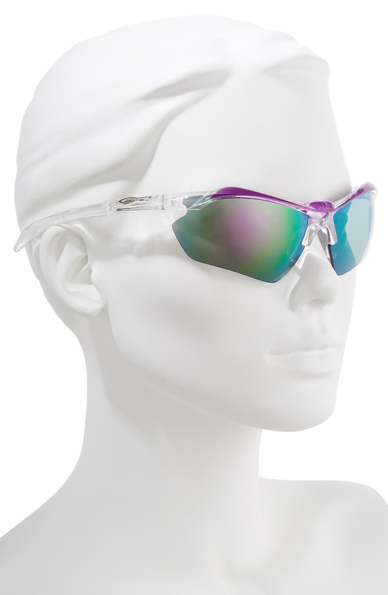 68mm Sport Shield Sunglasses,                             Alternate thumbnail 2, color,                             CLEAR/ PURPLE