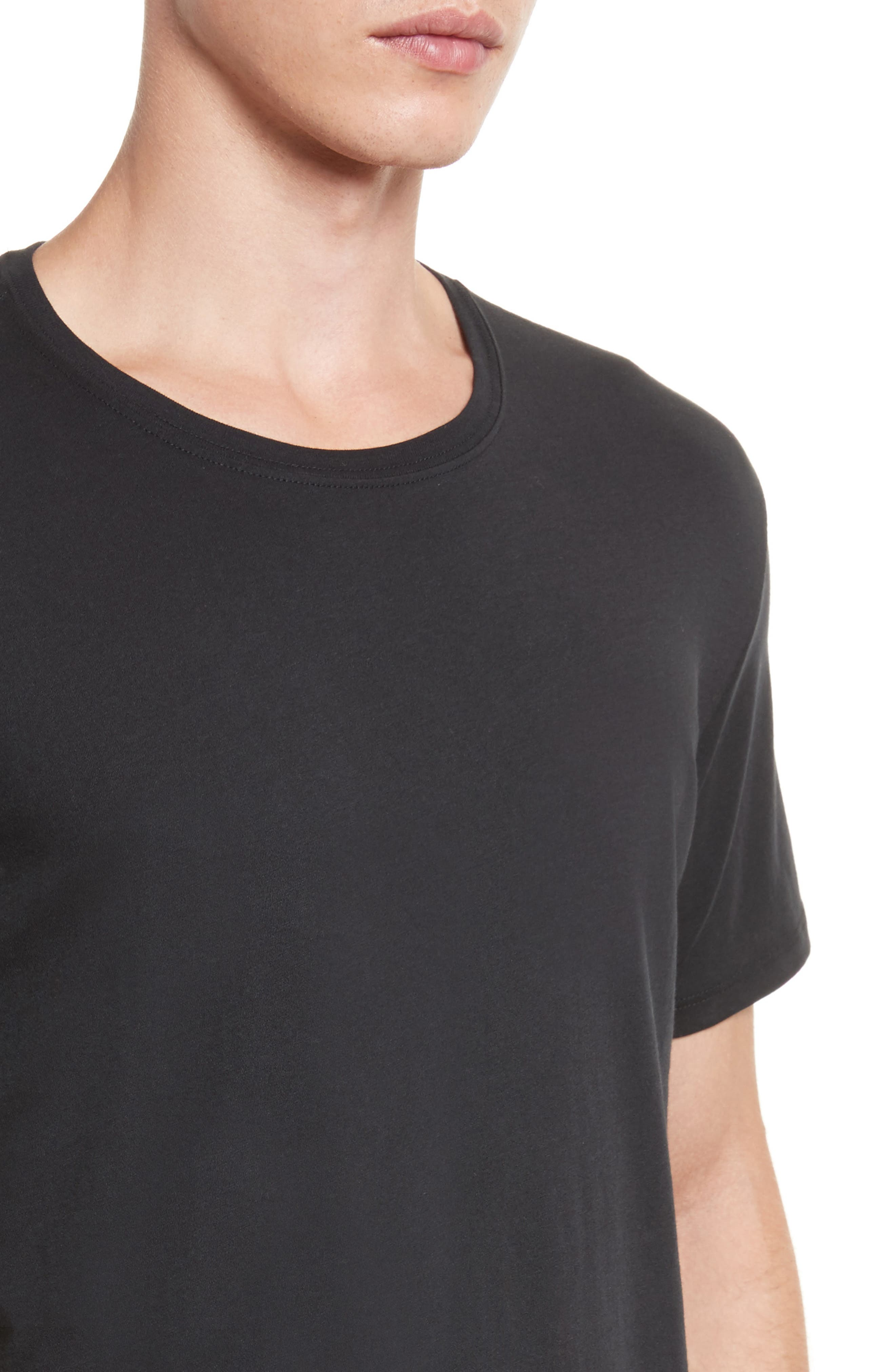 Cotton Jersey T-Shirt,                             Alternate thumbnail 5, color,                             001