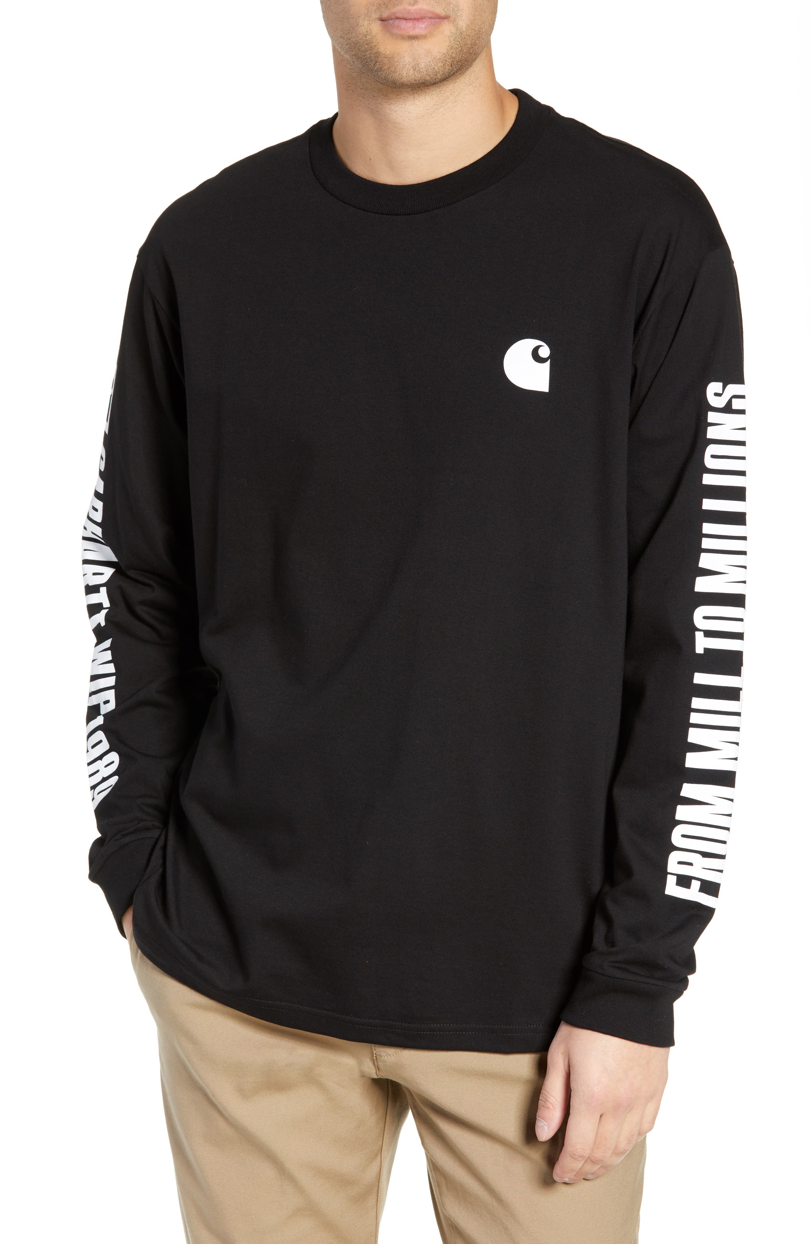 Long Sleeve 1989 T-Shirt,                         Main,                         color, BLACK / WHITE
