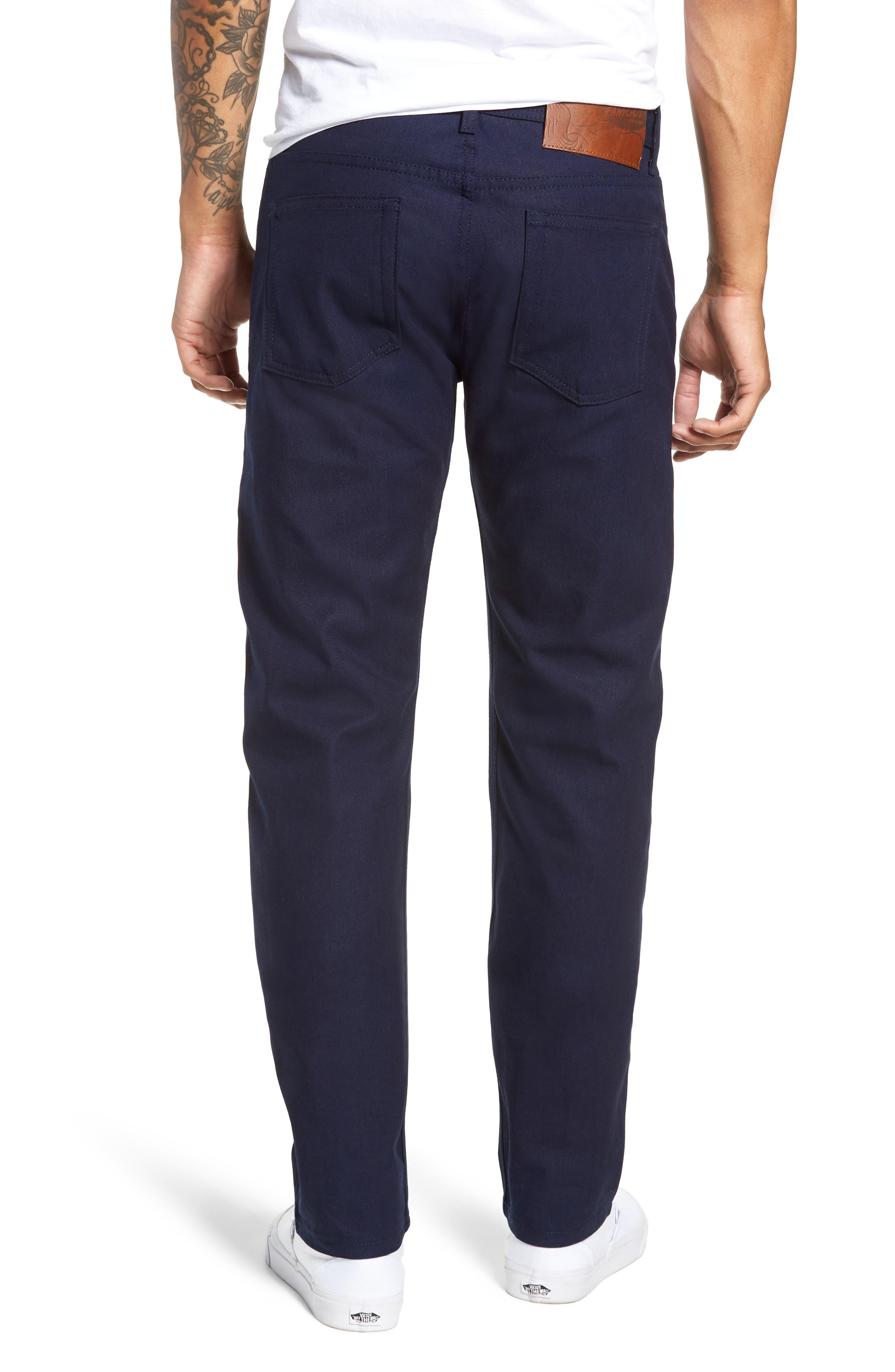 Weird Guy Slim Fit Jeans,                             Alternate thumbnail 2, color,                             INDIGO DUCK CANVAS SELVEDGE