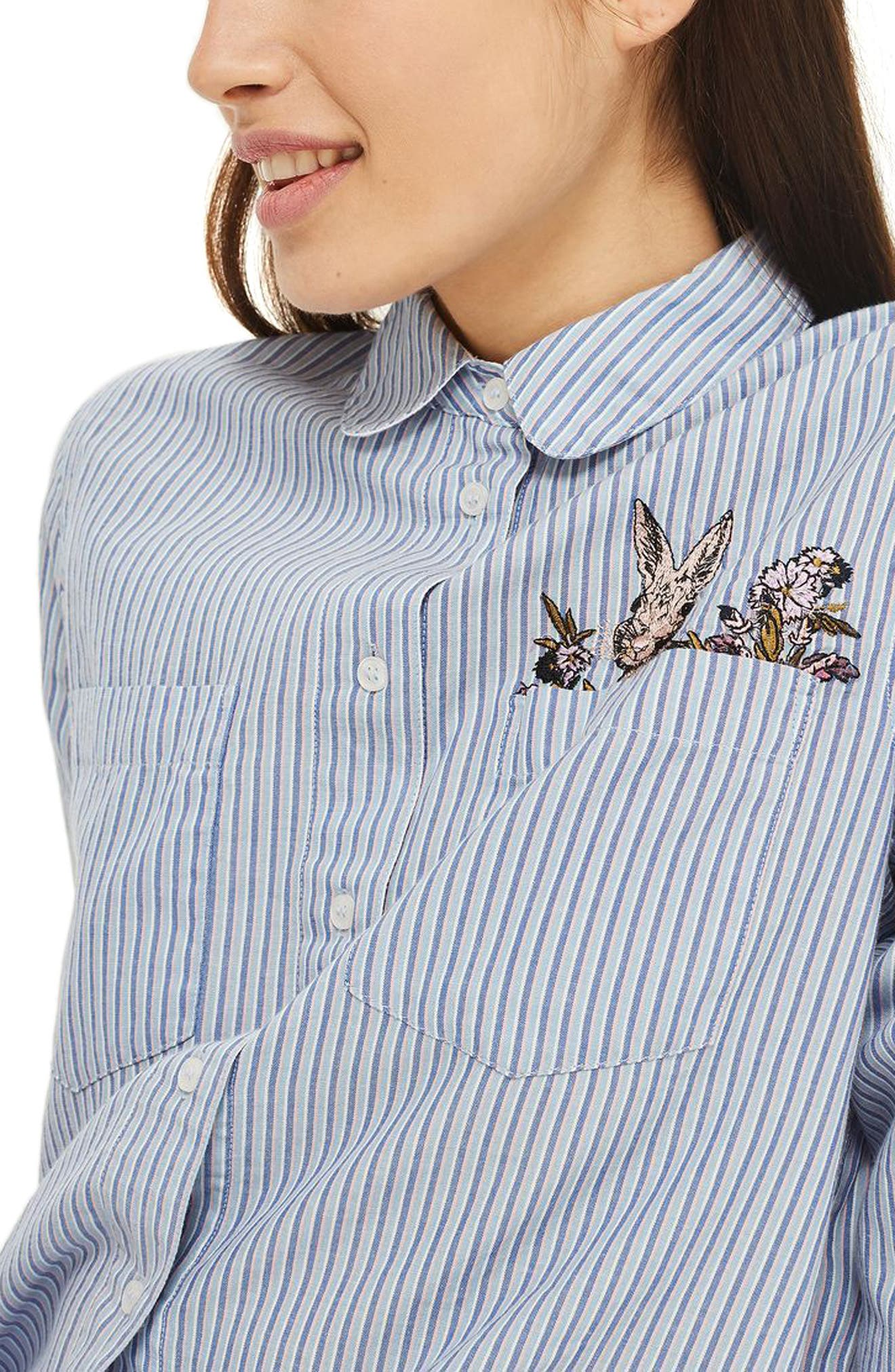 Bunny Embroidered Short Pajamas,                             Alternate thumbnail 2, color,                             650