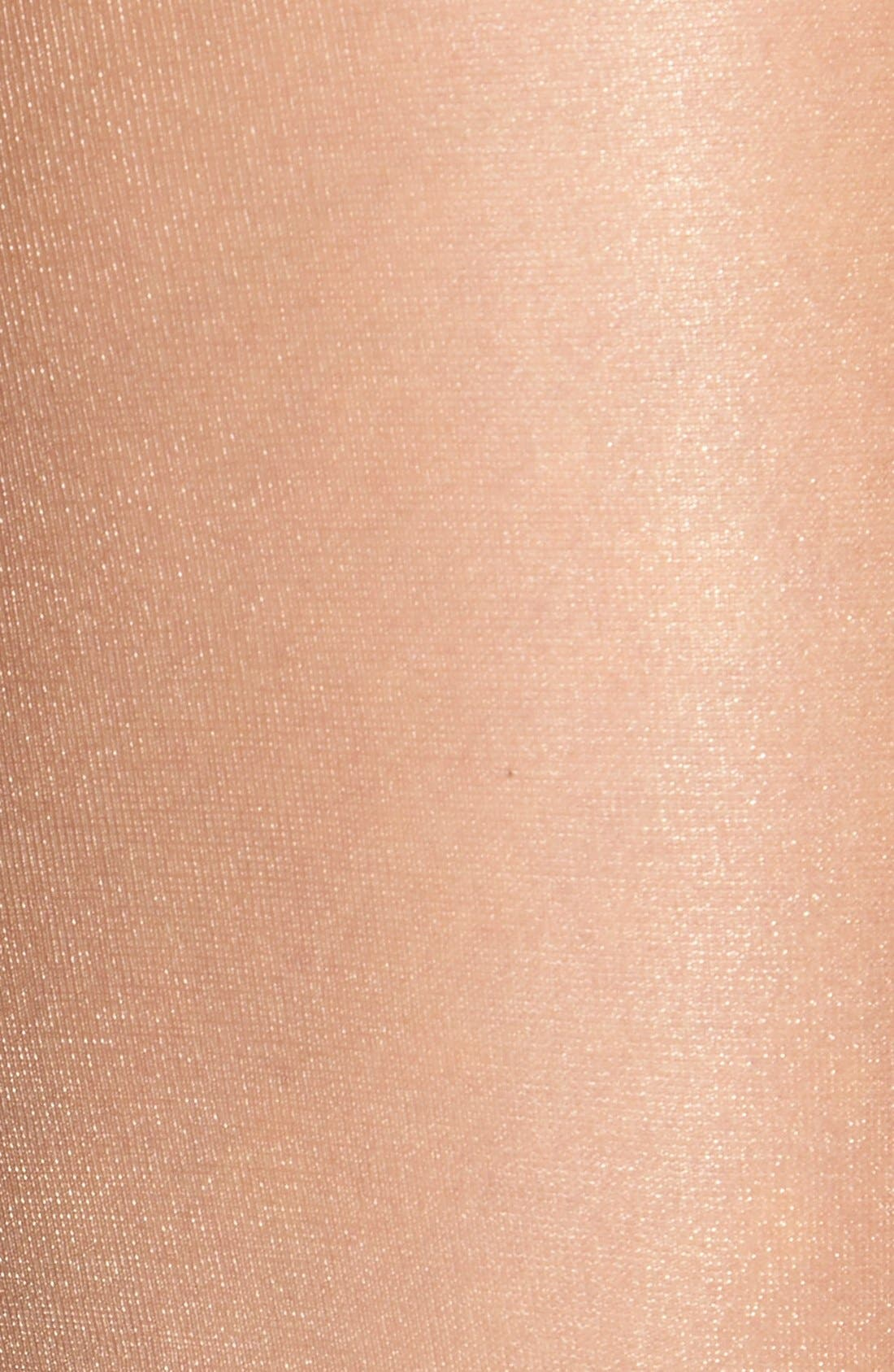 Shimmer Sheer Control Top Pantyhose,                             Alternate thumbnail 6, color,