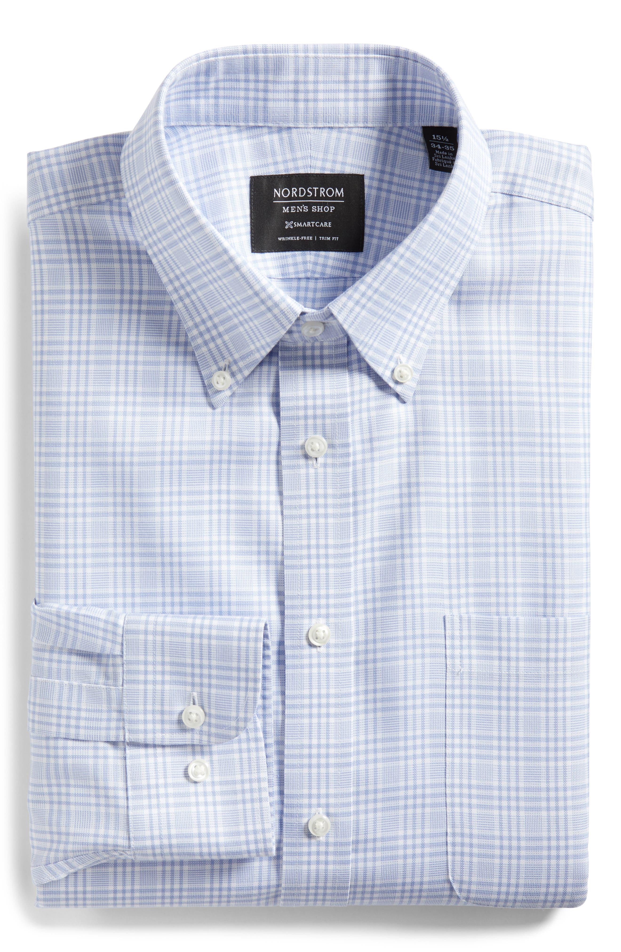 Smartcare<sup>™</sup> Traditional Fit Plaid Dress Shirt,                             Alternate thumbnail 10, color,