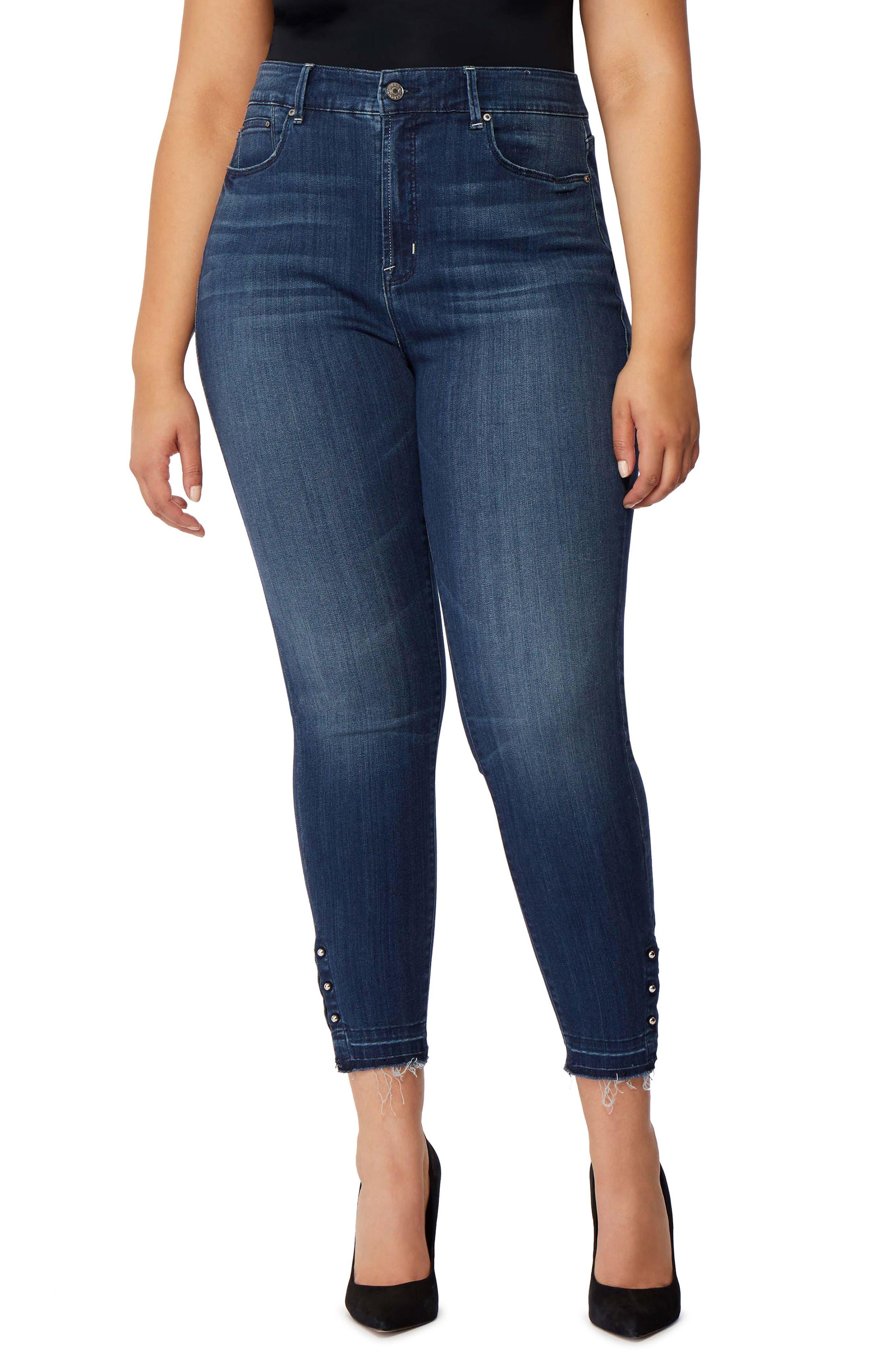 Rebel Wilson The Vamp Crop High Waist Skinny Jeans,                         Main,                         color, DEL MAR