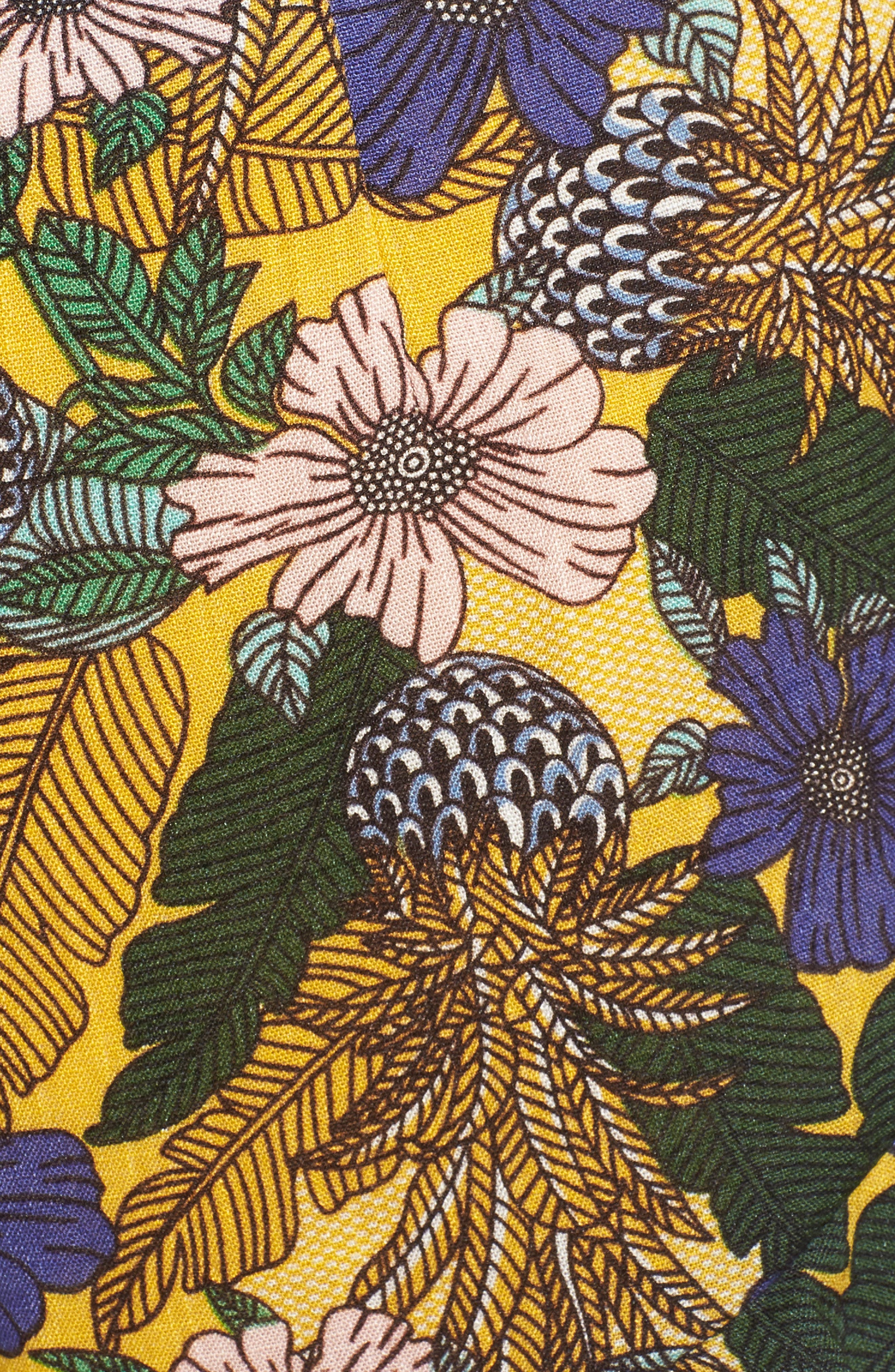 Isla Floral Print Crop Top,                             Alternate thumbnail 5, color,                             751