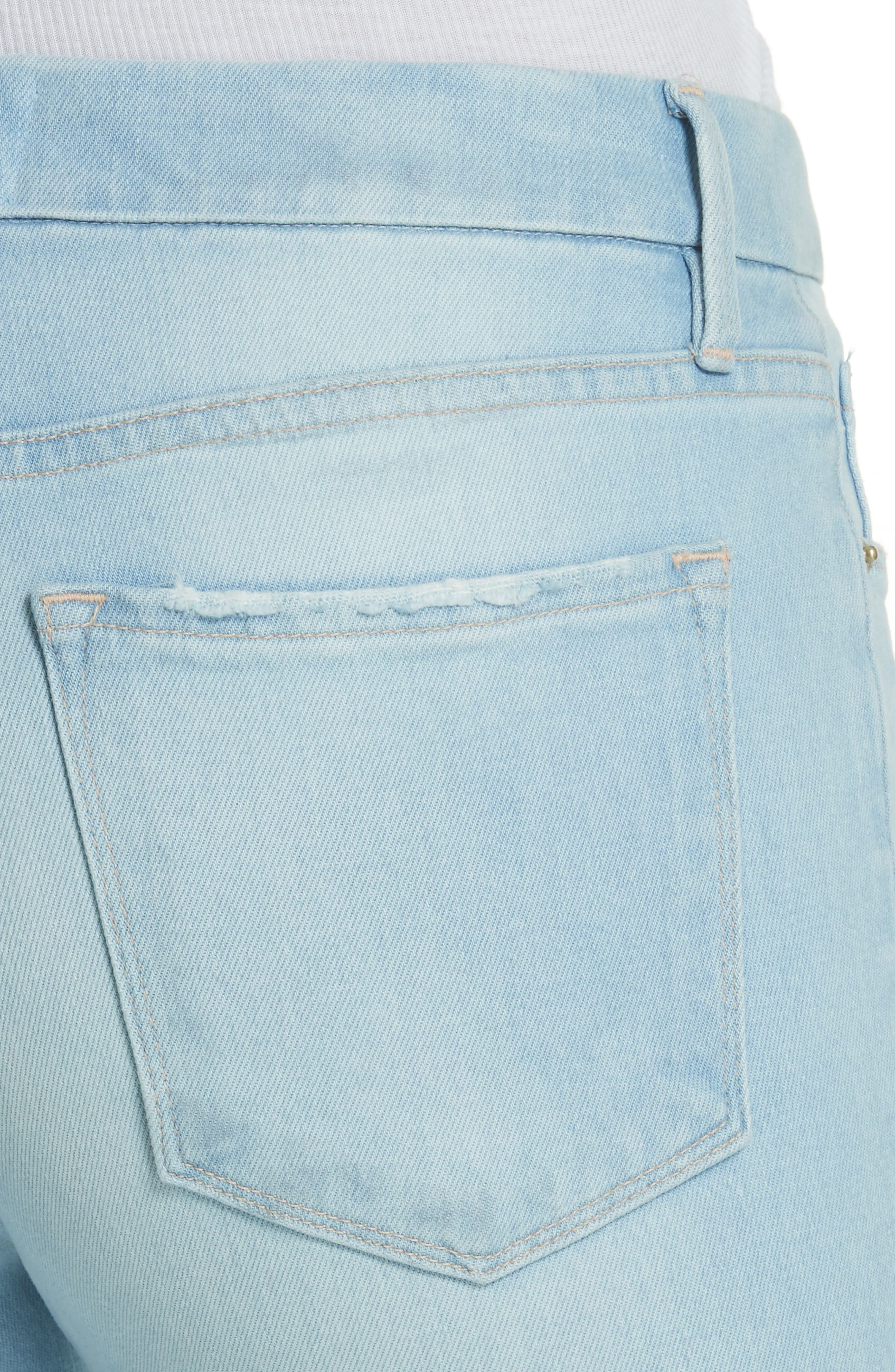 Le Crop Gusset Step Hem Mini Boot Jeans,                             Alternate thumbnail 4, color,                             450