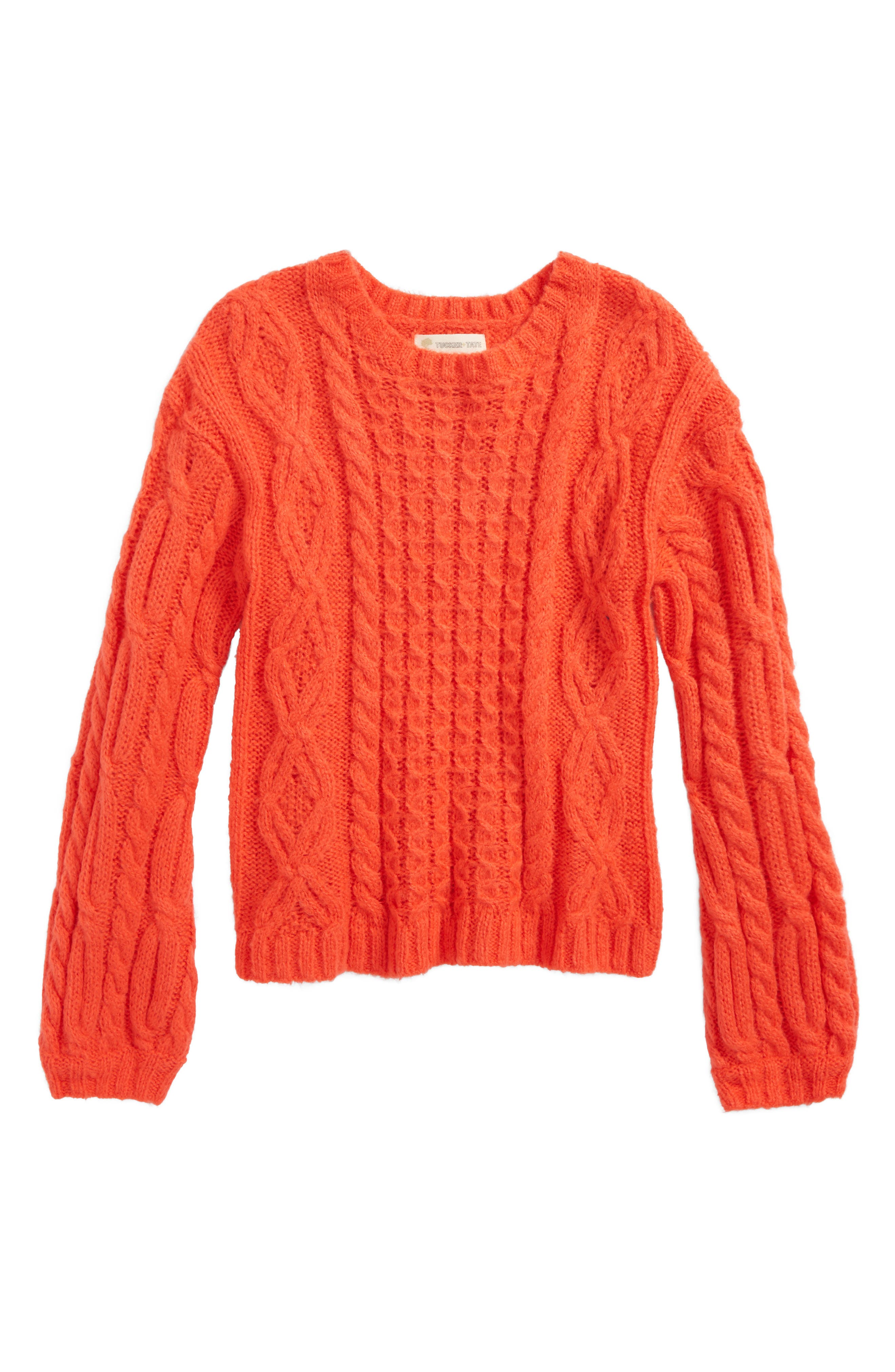 Cable Sweater,                             Main thumbnail 1, color,                             610