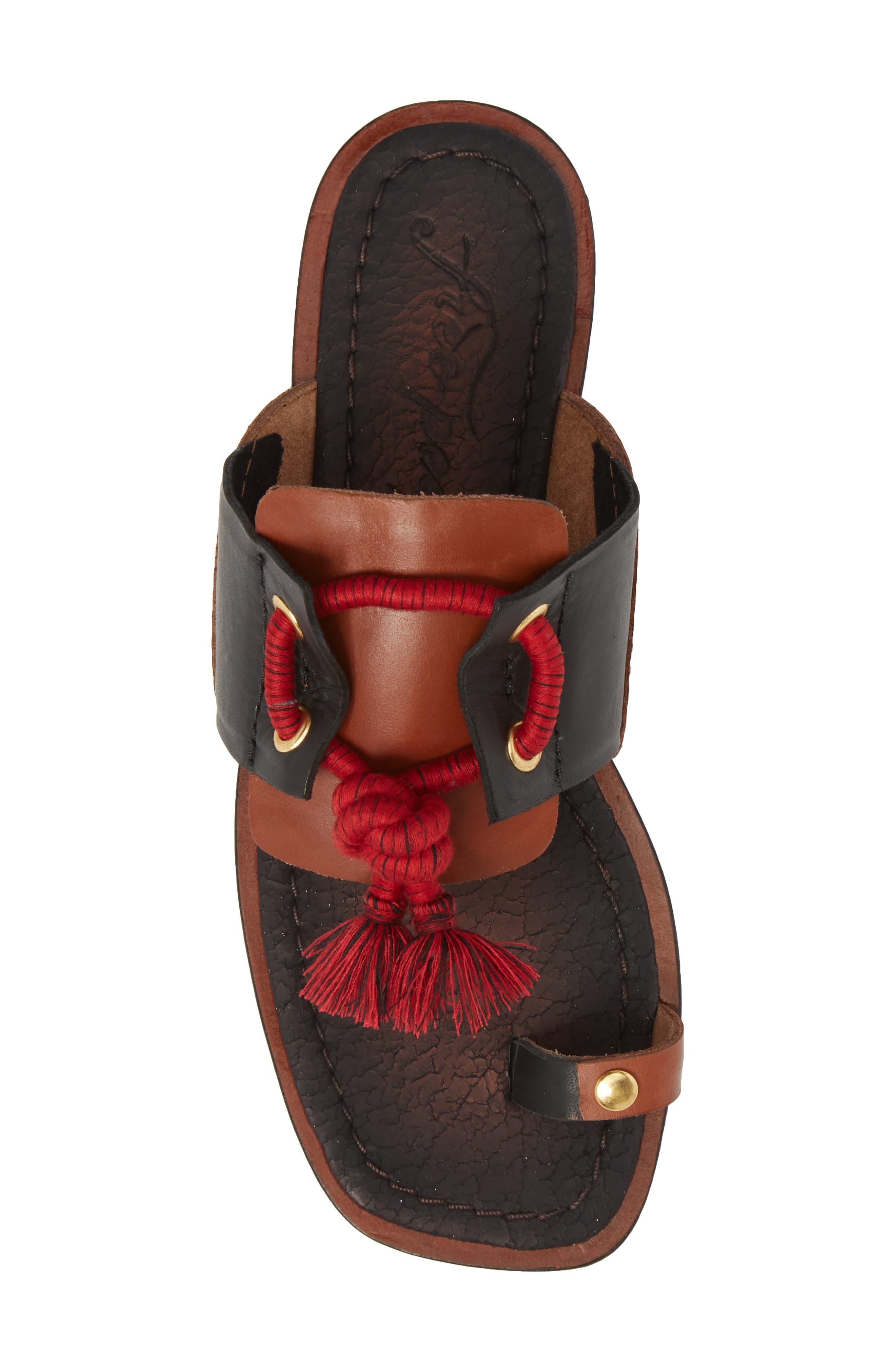 Maui Tasseled Slide Sandal,                             Alternate thumbnail 5, color,                             001