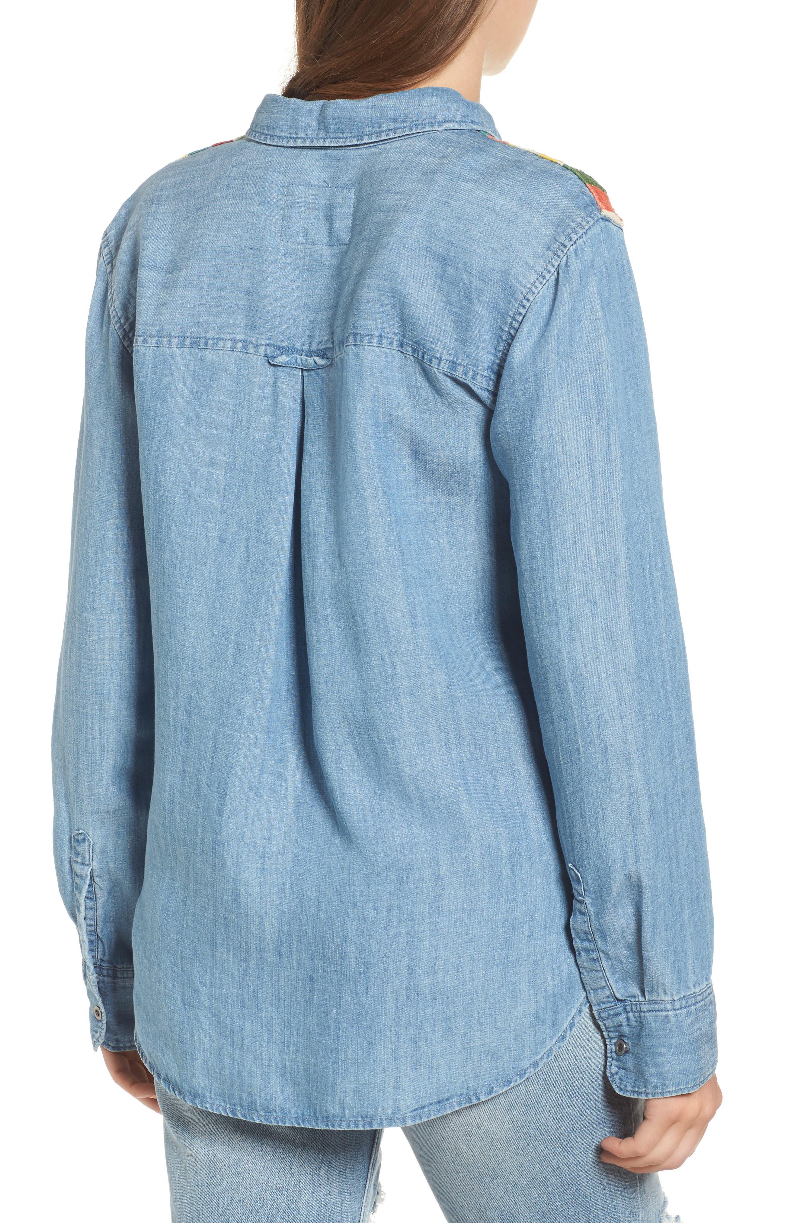Jimi Chambray Shirt,                             Alternate thumbnail 2, color,                             493