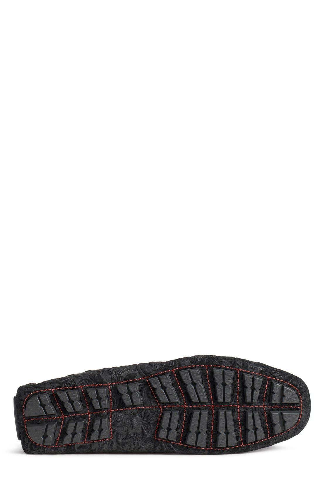 'Sophia' Genuine Shearling Lined Driving Loafer,                             Alternate thumbnail 3, color,                             008