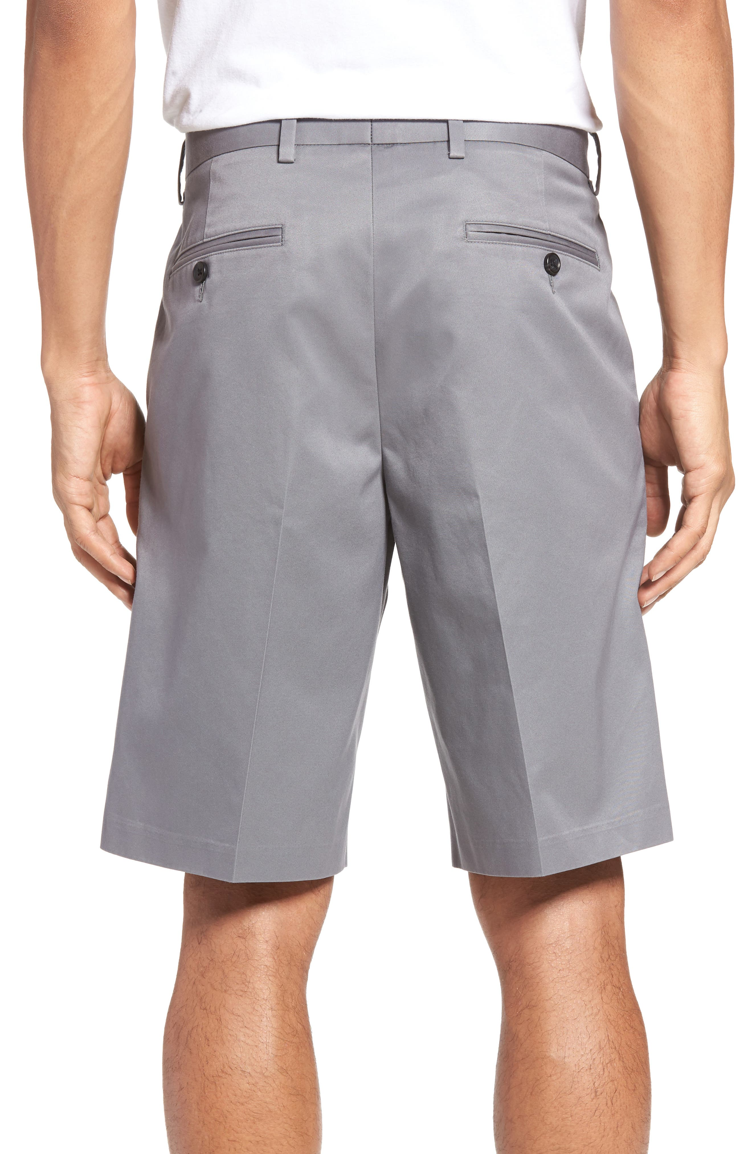 Pleated Supima<sup>®</sup> Cotton Shorts,                             Alternate thumbnail 7, color,