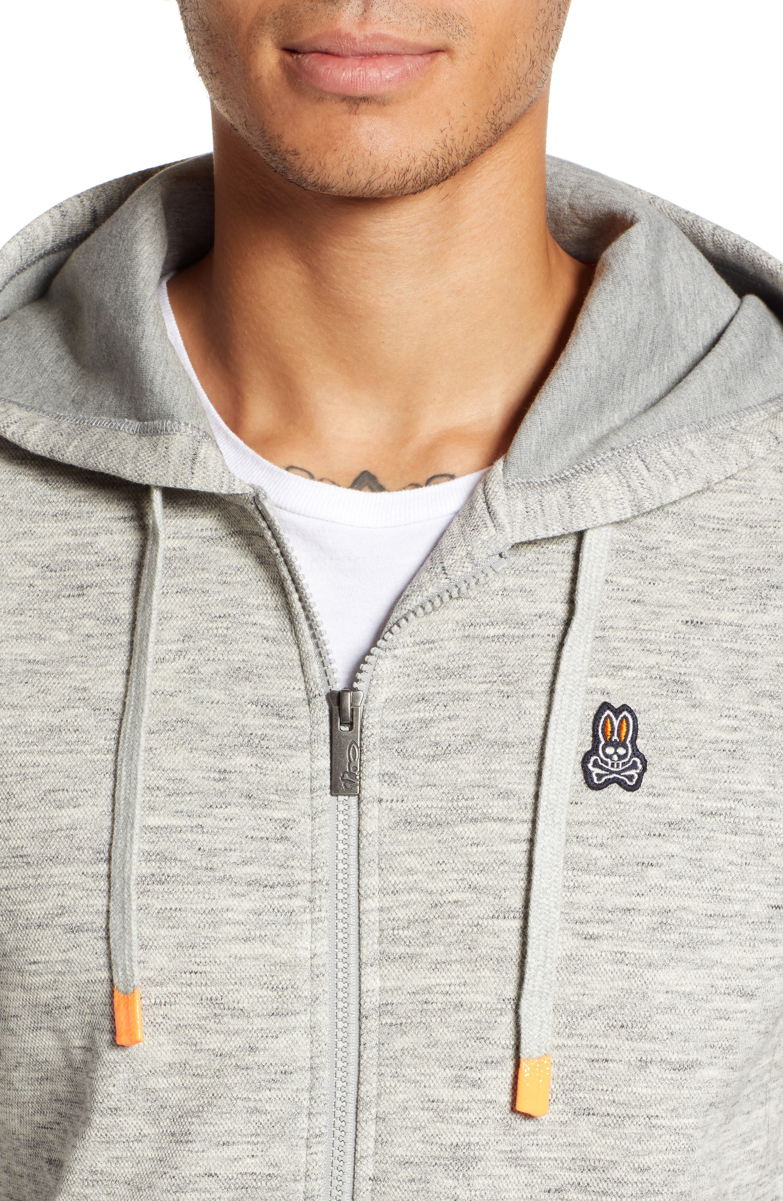 Newry Double Face Zip Hoodie,                             Alternate thumbnail 4, color,                             HEATHER GREY