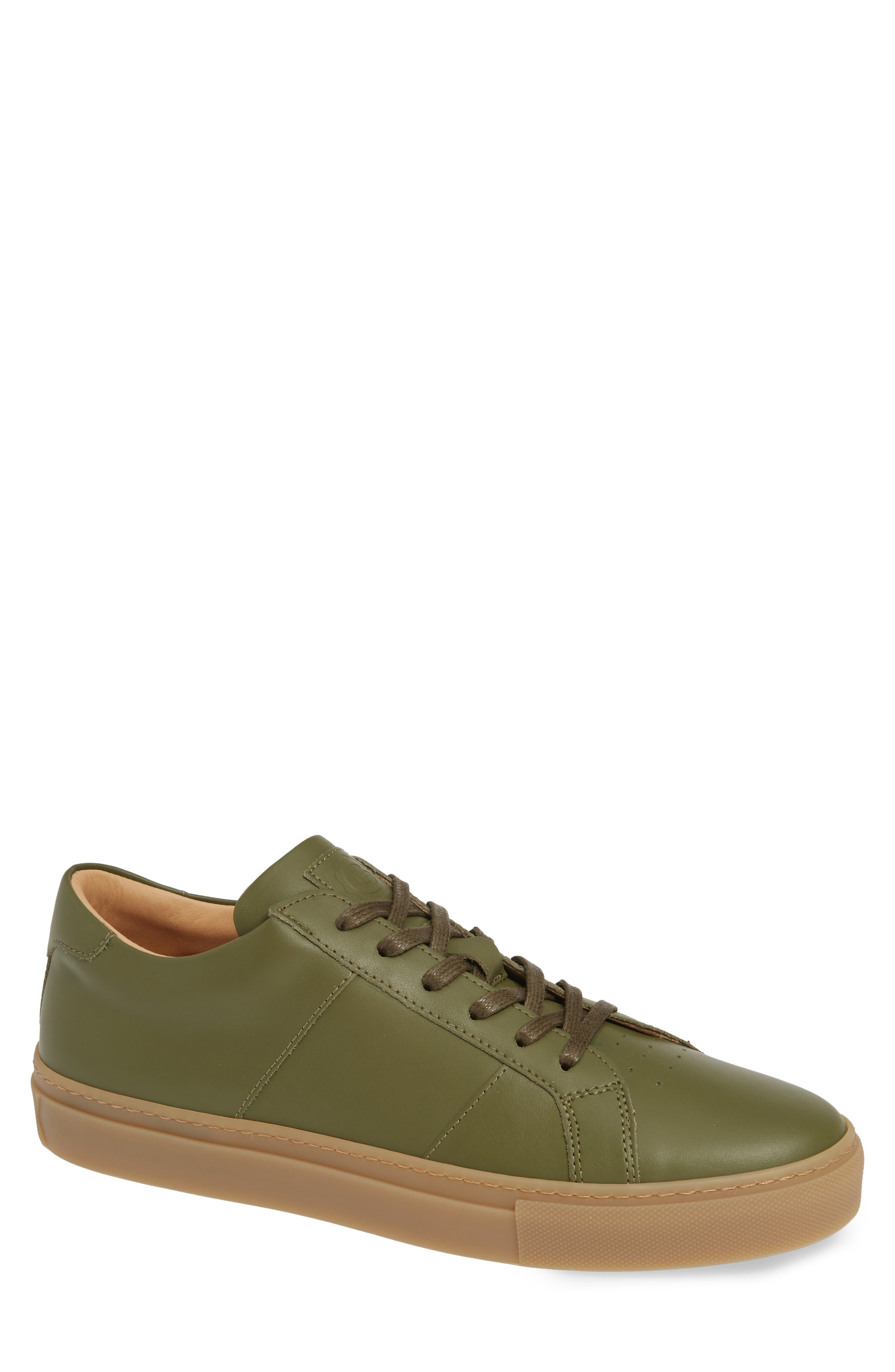 GREATS Royale Sneaker in Olive/ Gum Leather