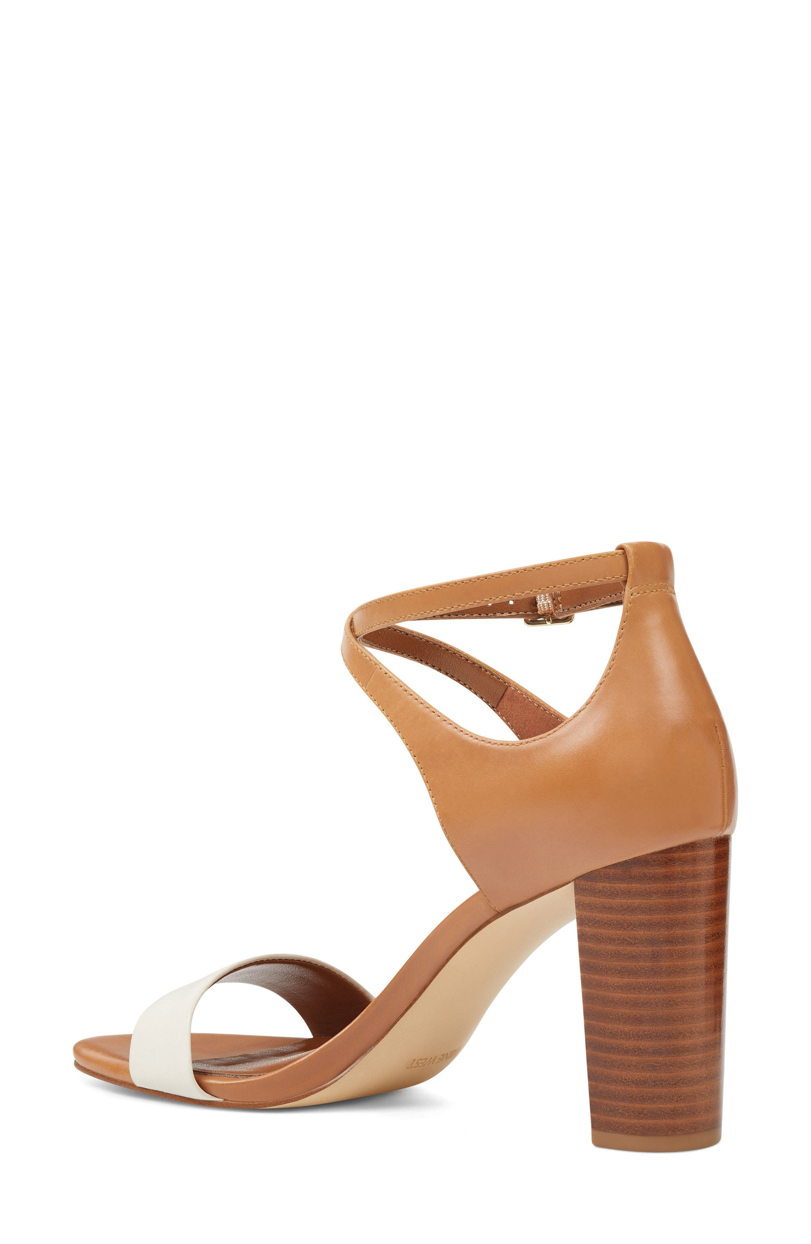 Nunzaya Ankle Strap Sandal,                             Alternate thumbnail 2, color,                             OFF WHITE/ NATURAL LEATHER