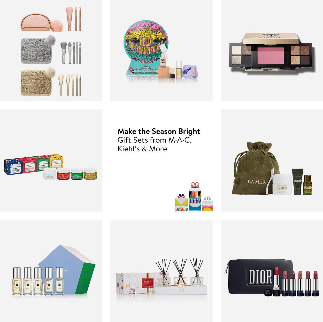 Make their season bright, gift sets from M·A·C, Kiehl's and more.